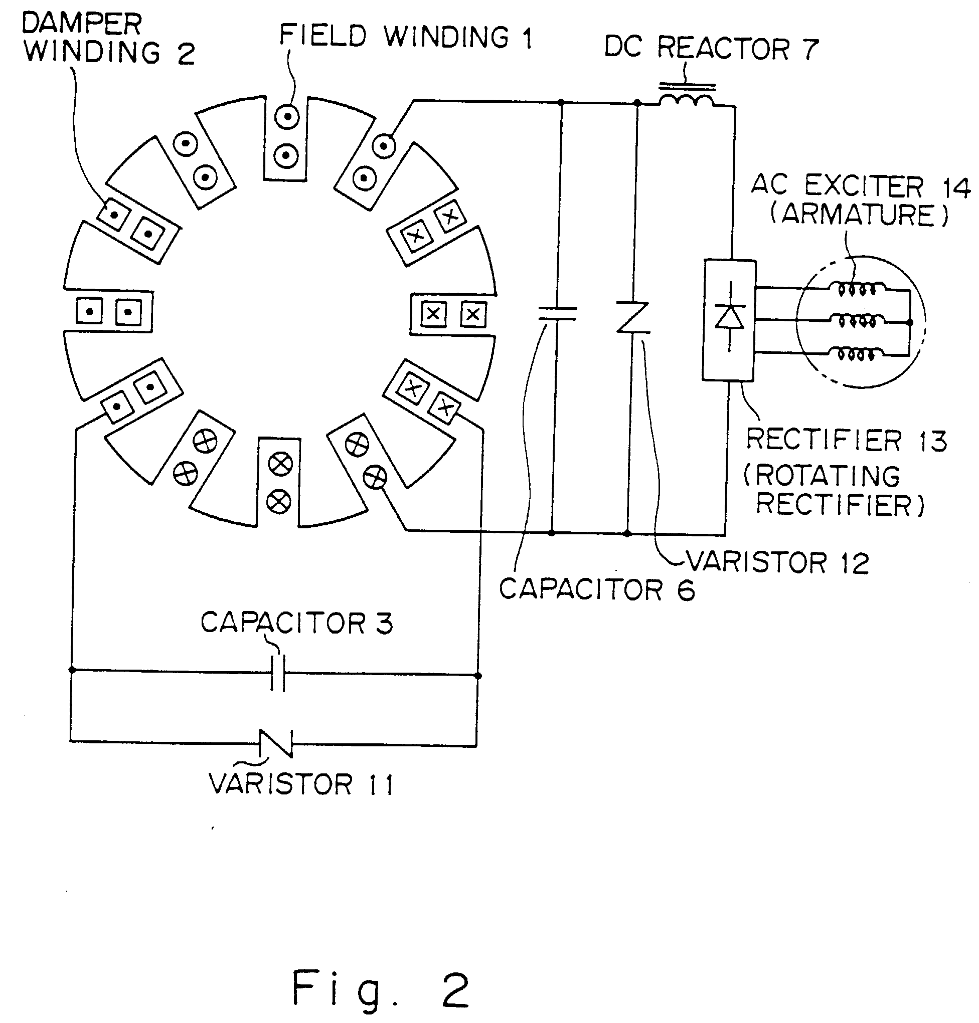 00330001 patent ep0681361b1 synchronous machine with higher harmonics ac synchronous generator wiring diagram at bakdesigns.co