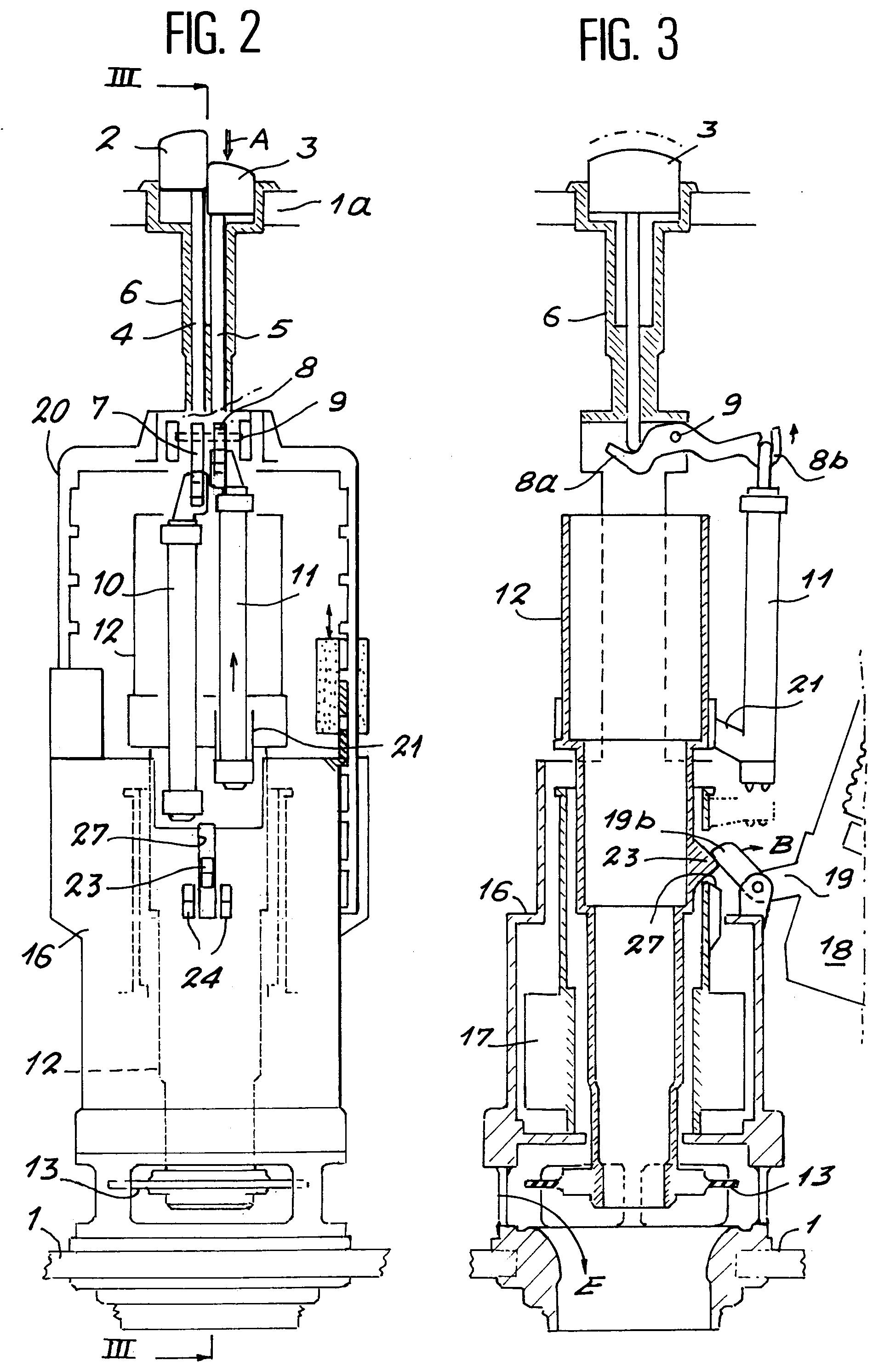 patent ep0685605a1 dispositif de chasse d 39 eau double bouton de commande permettant de. Black Bedroom Furniture Sets. Home Design Ideas