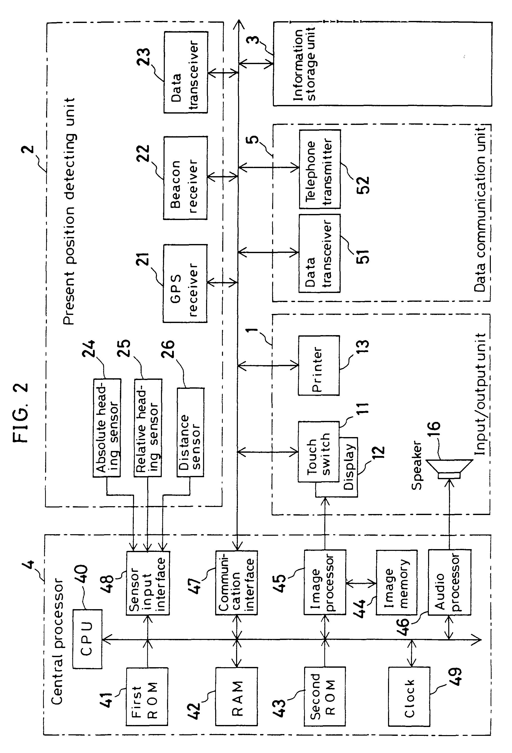 patent ep0699894b1 navigationssystem google patentsuche. Black Bedroom Furniture Sets. Home Design Ideas