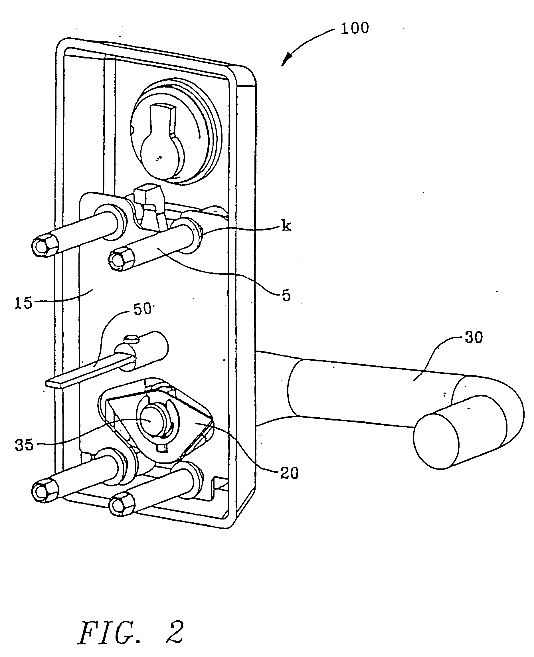 Patent Ep0761912a1 - Door Handle Locking Mechanism With Dual Function Springs
