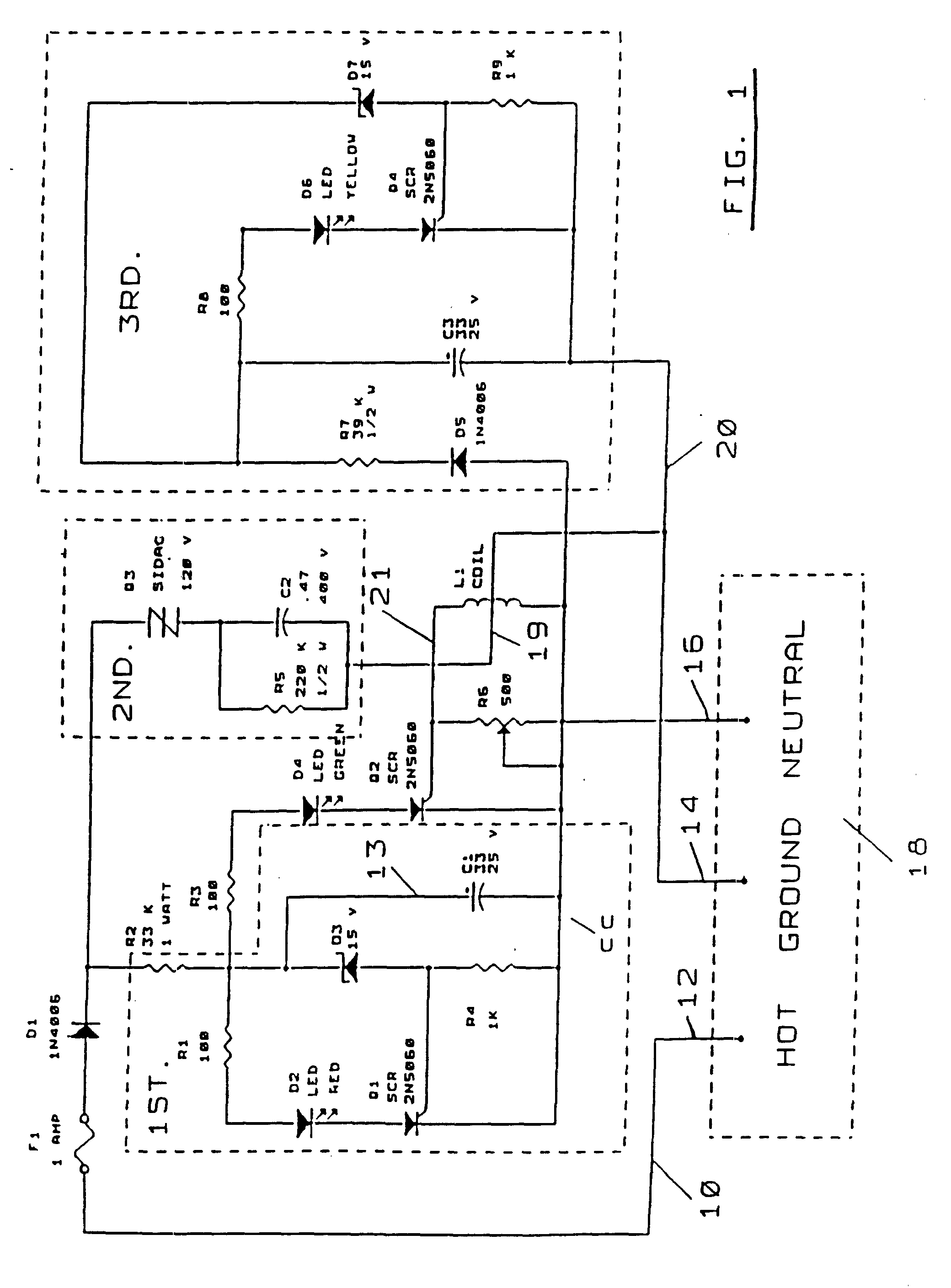 Patent Ep0774124b1 Ac Power Outlet Ground Integrity And