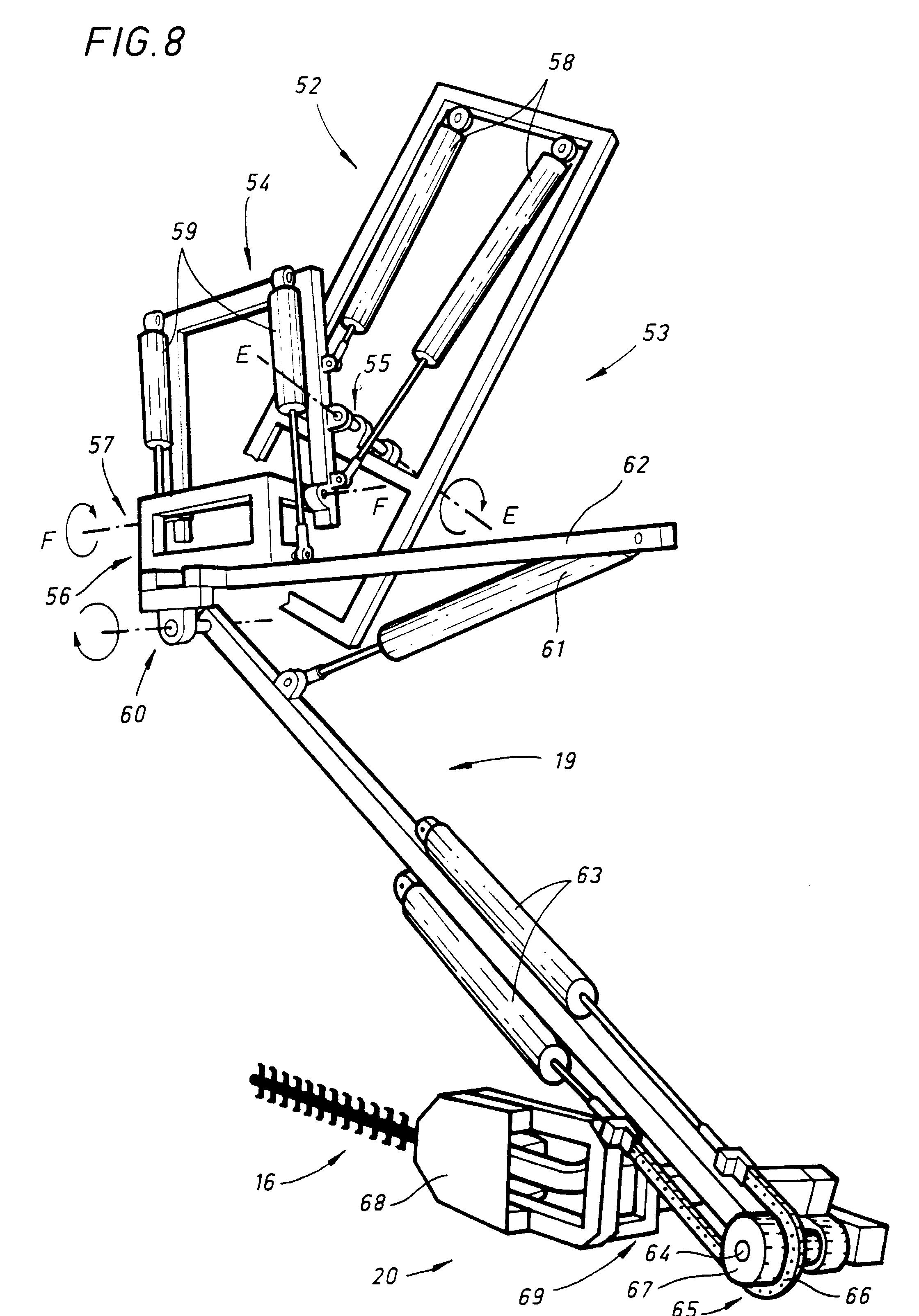 patent ep0786201a1 robot taille haies t l command avec r glage automatique des niveaux. Black Bedroom Furniture Sets. Home Design Ideas