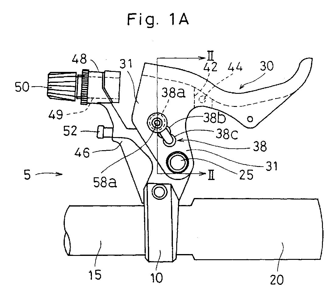 Mechanism Wheel Lever : Patent ep a brake lever stroke adjusting