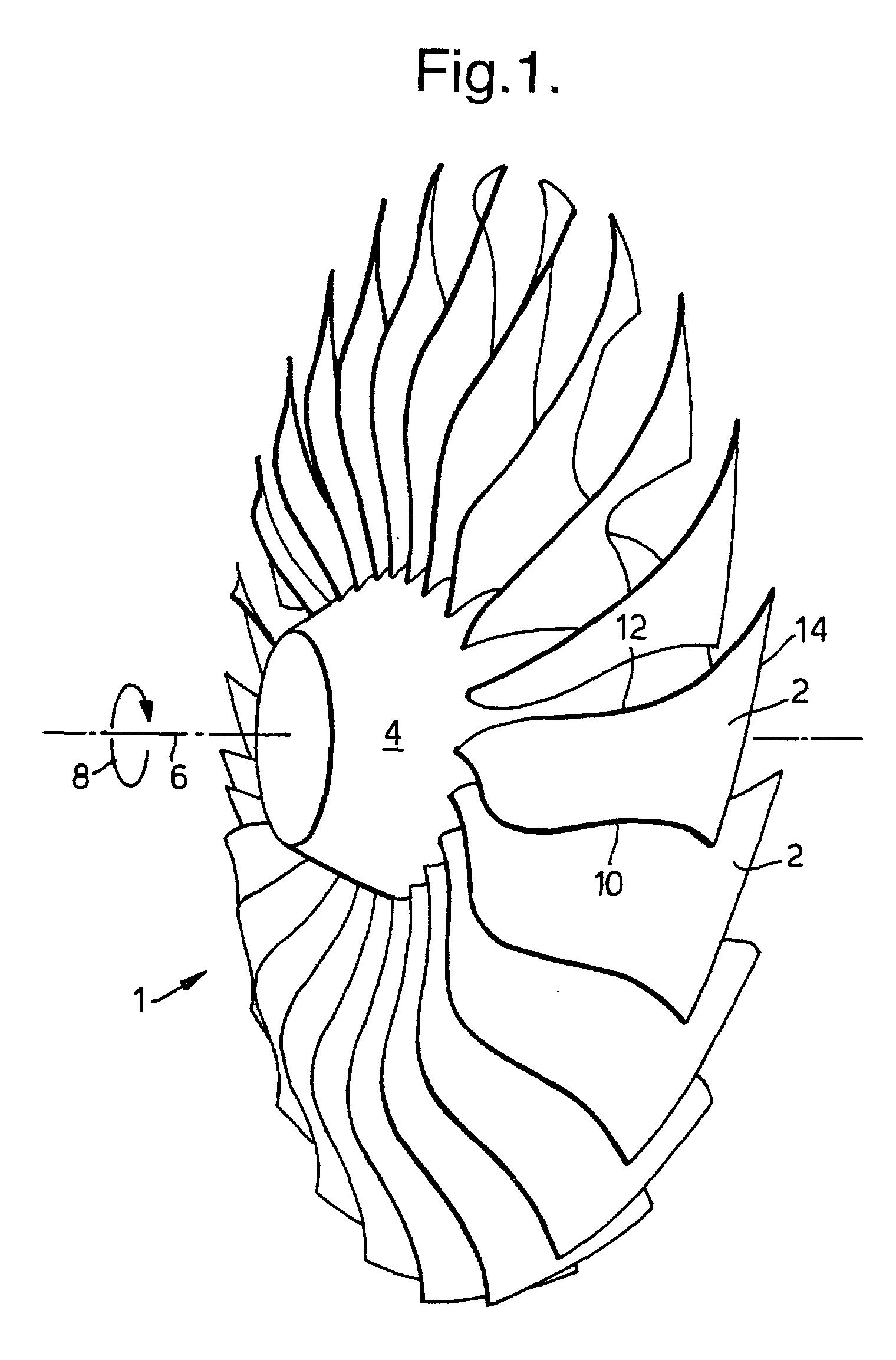Fan Blade Drawing : Patent ep b swept fan blade google patents