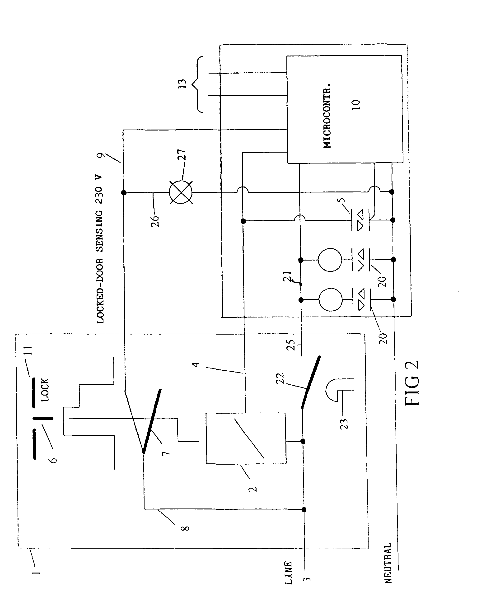 00210001 patent ep0808935b1 washing machine with instant action door washing machine door lock wiring diagram at et-consult.org