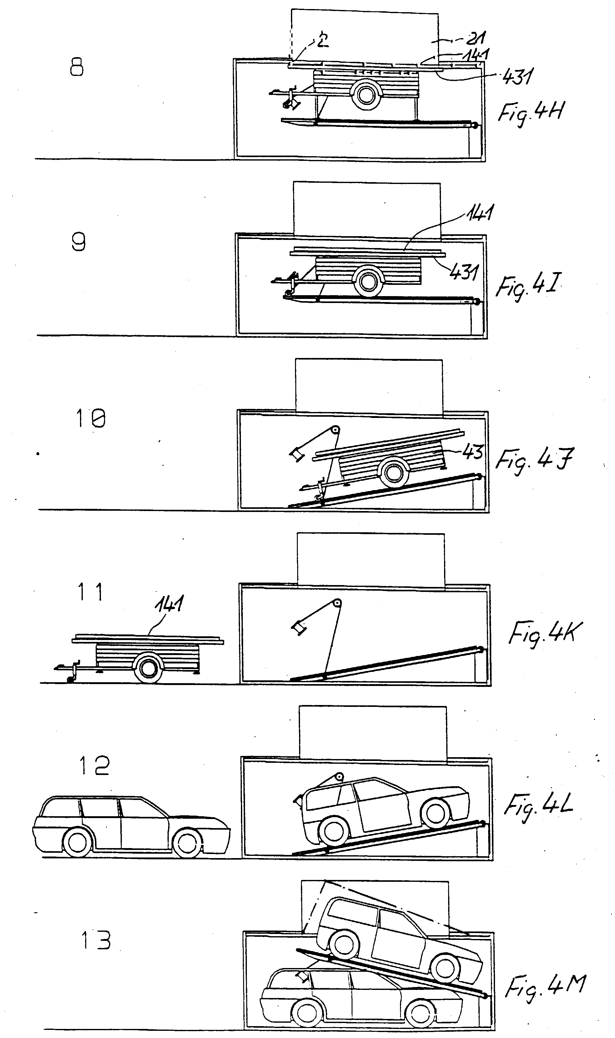 patent ep0814220a2 double parking garage assembly and method of construction google patents. Black Bedroom Furniture Sets. Home Design Ideas