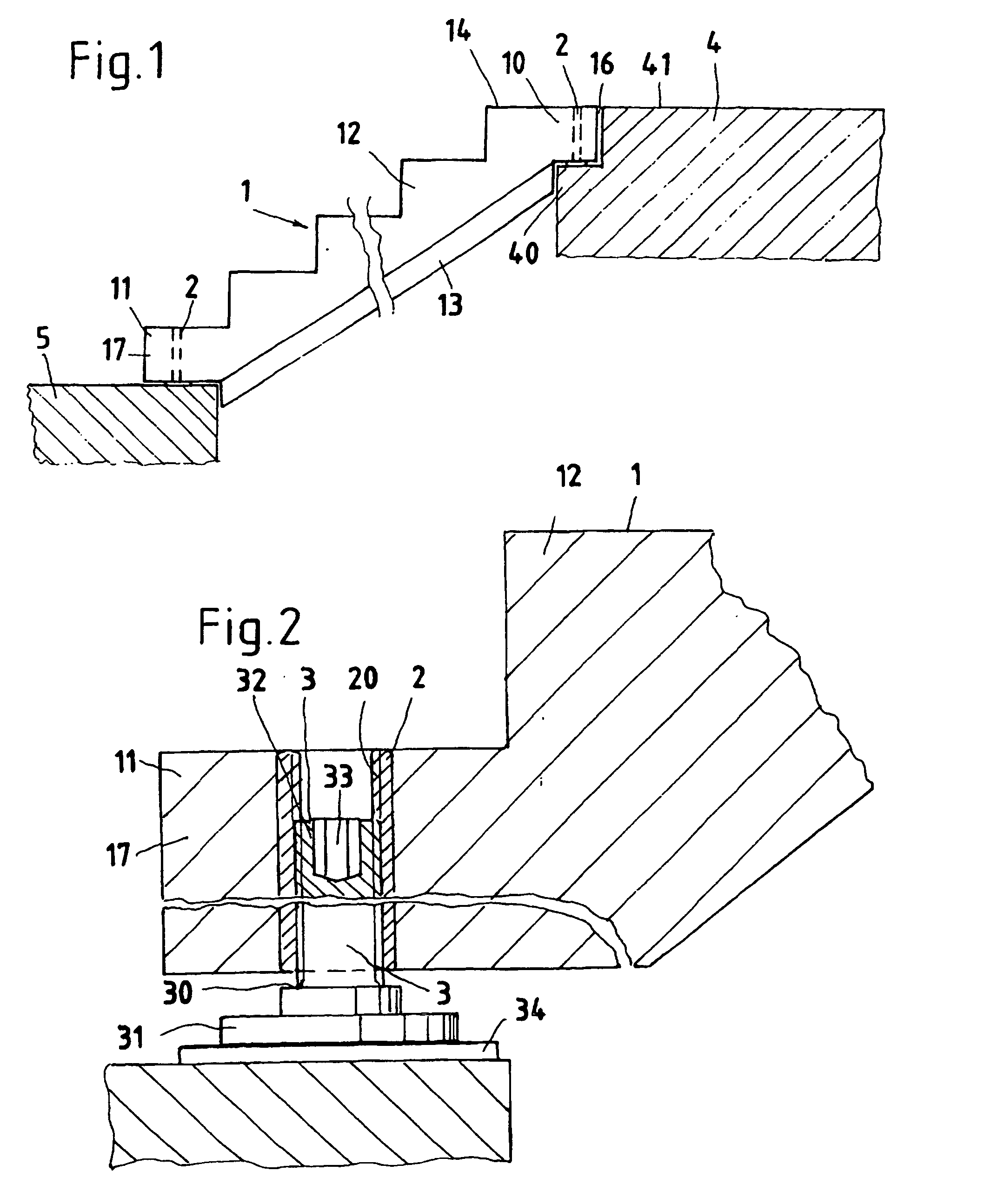 patent ep0816587b1 auflager f r eine fertigtreppe aus. Black Bedroom Furniture Sets. Home Design Ideas