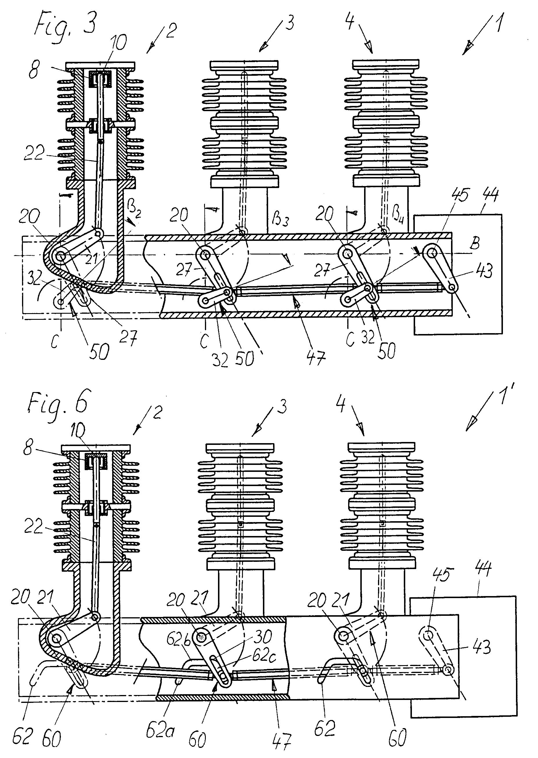 Patent EP0817225A1 - Mehrpoliger Schalter, insbesondere für ...