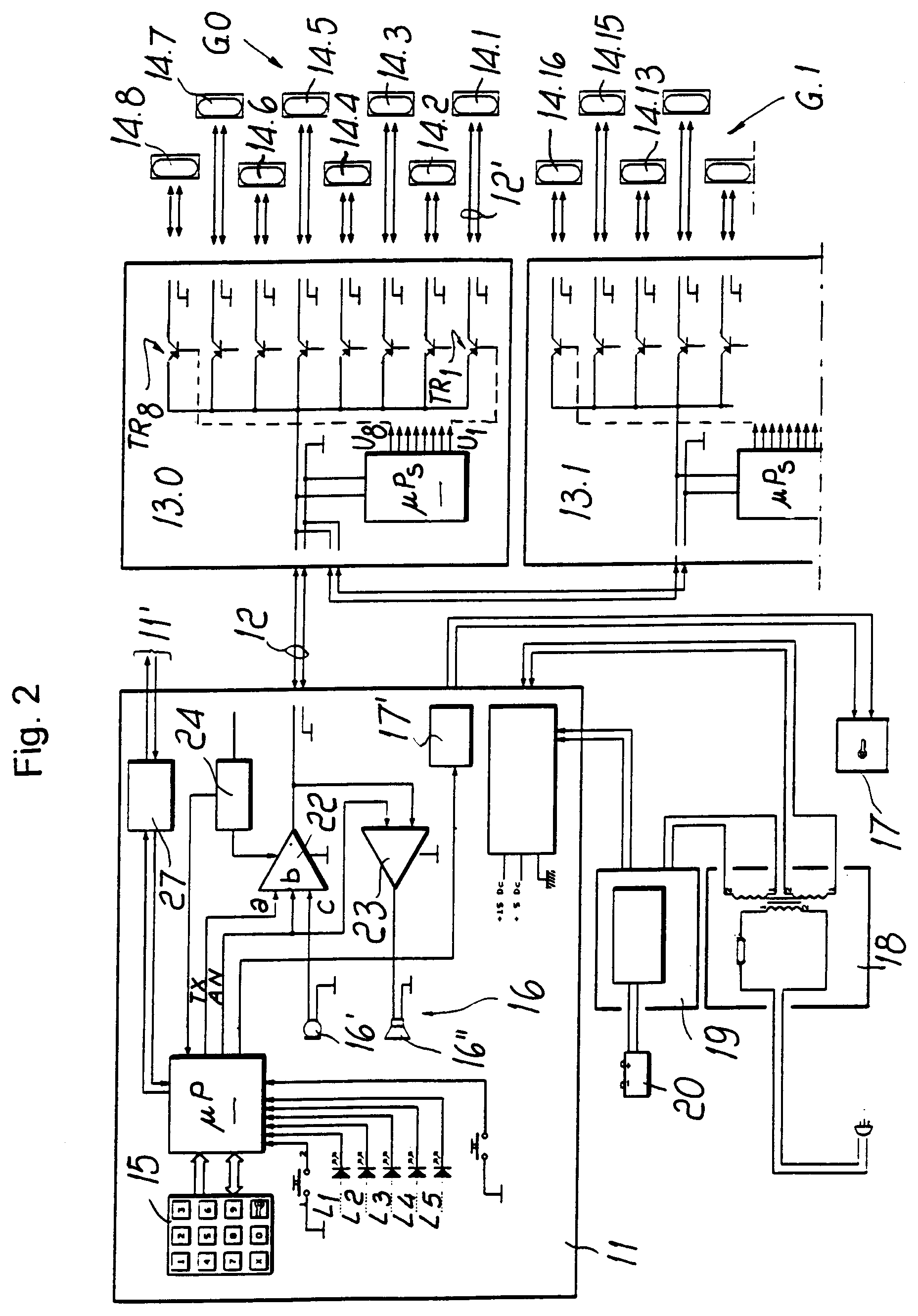 00160001 patent ep0818914a1 two wire building intercommunication system 2Wire Intercom Schematic at crackthecode.co