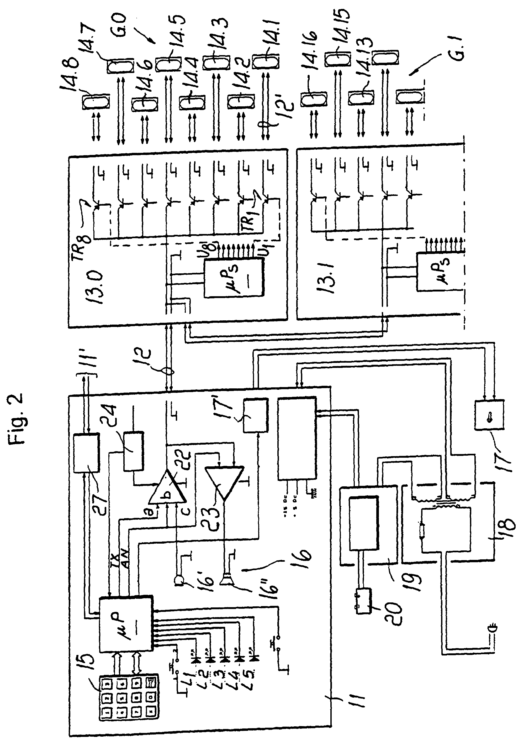 Patent ep0818914b1 two wire building intercommunication for Citofono urmet 1130 schema