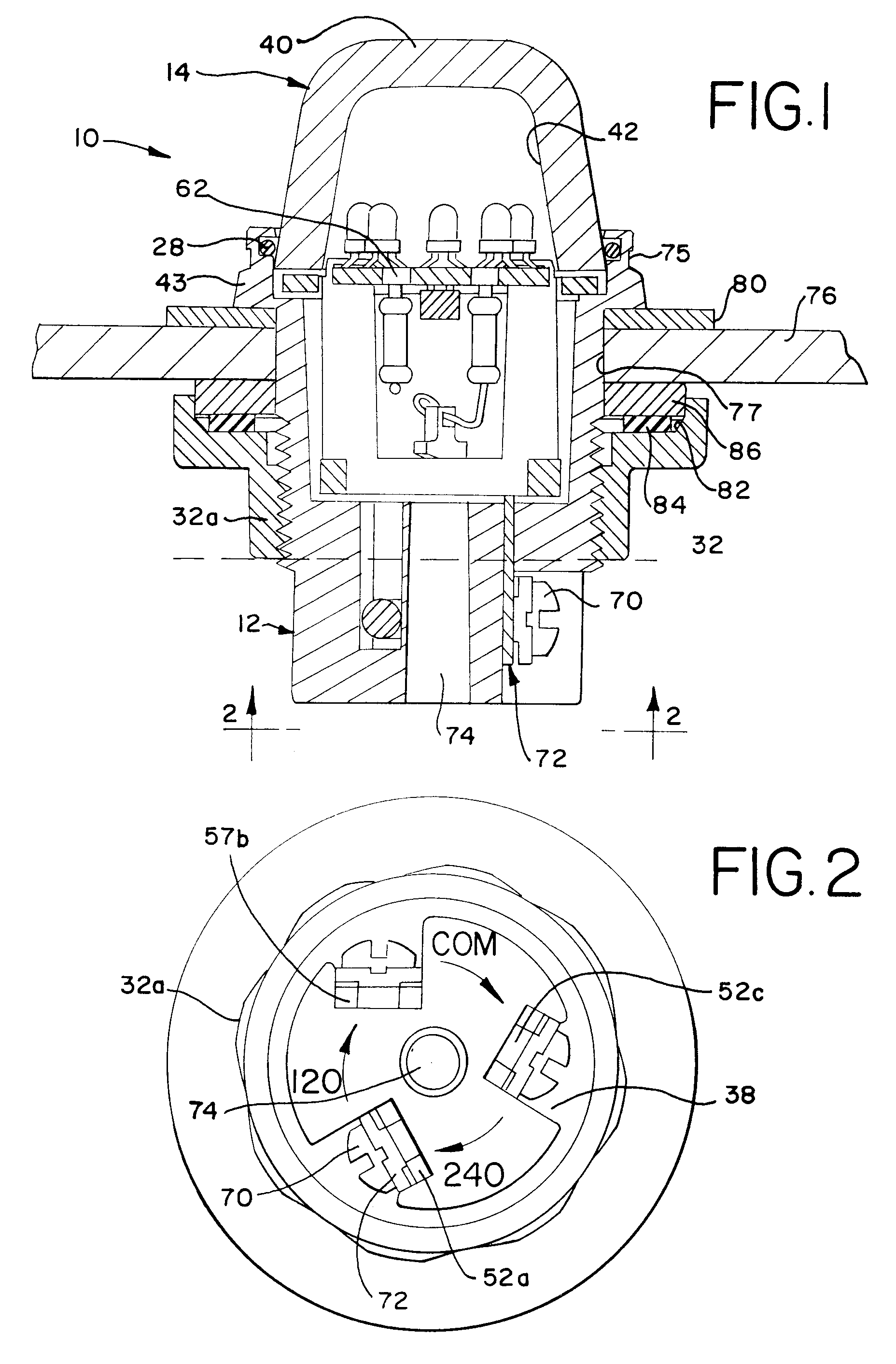 Patent EP0823589A2 Encapsulated explosionproof pilot light – Explosion Proof Light Wiring Diagram