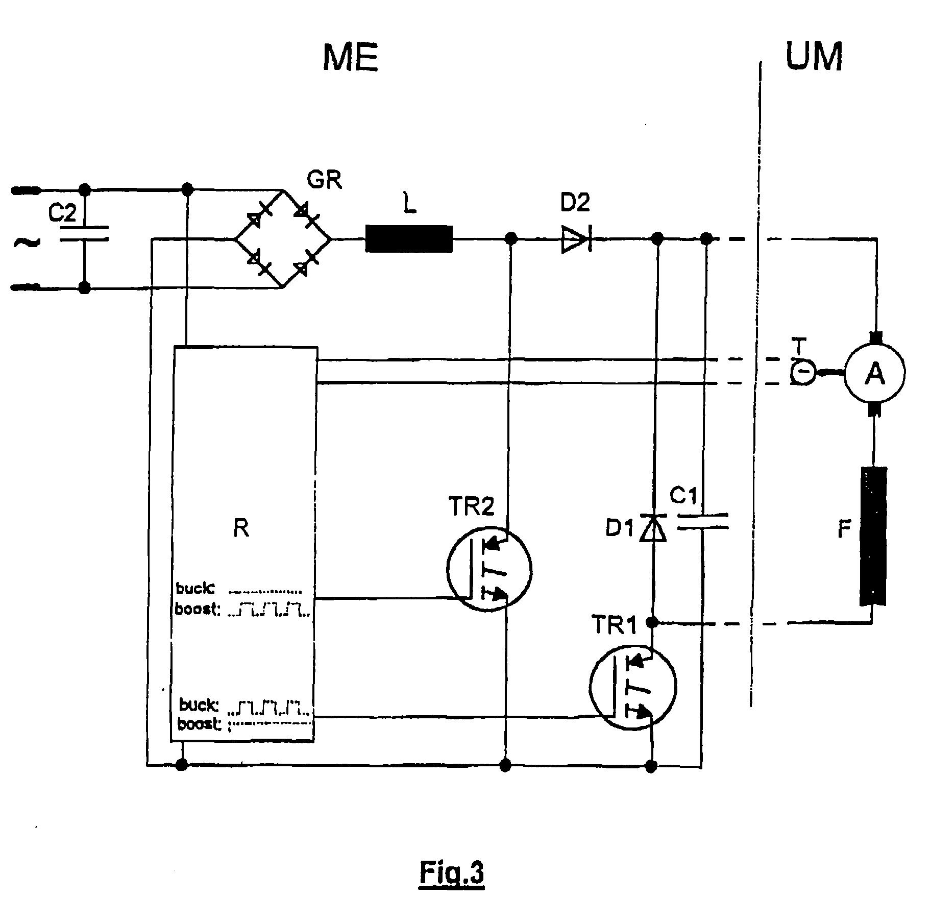 patent ep0833432a2 drehzahl steuerung zur speisung eines gleichstrom universalmotors google. Black Bedroom Furniture Sets. Home Design Ideas