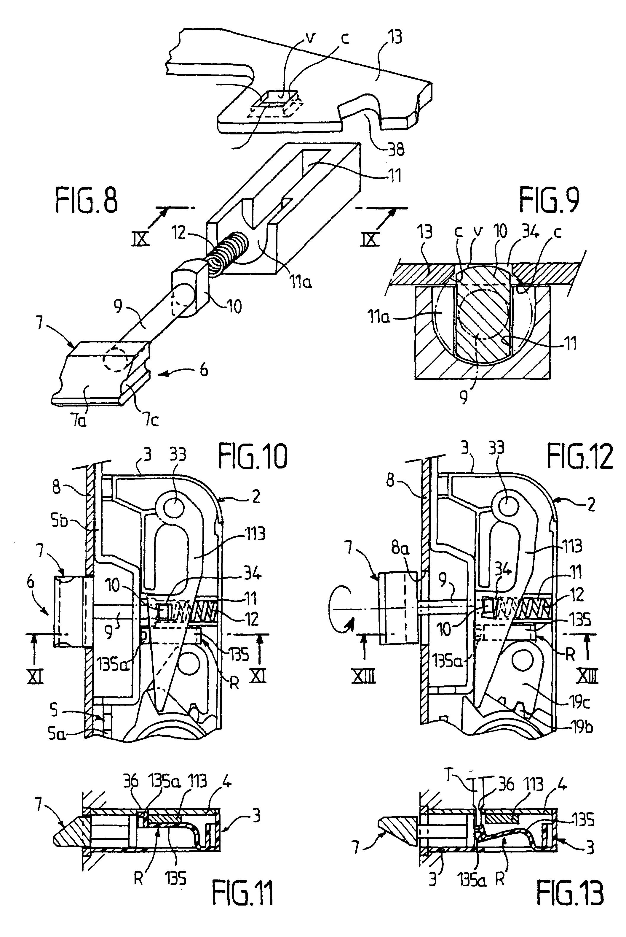 patente ep0894928b1 dispositif de fermeture en particulier serrure encastrer dans un. Black Bedroom Furniture Sets. Home Design Ideas