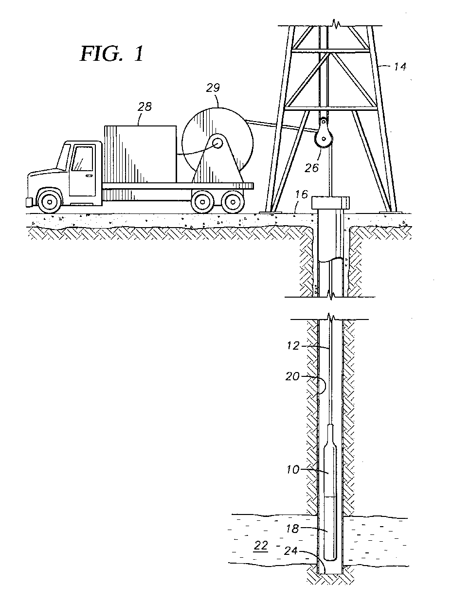 ep0898046a2 - method and apparatus for releasably ... wireline diagrams