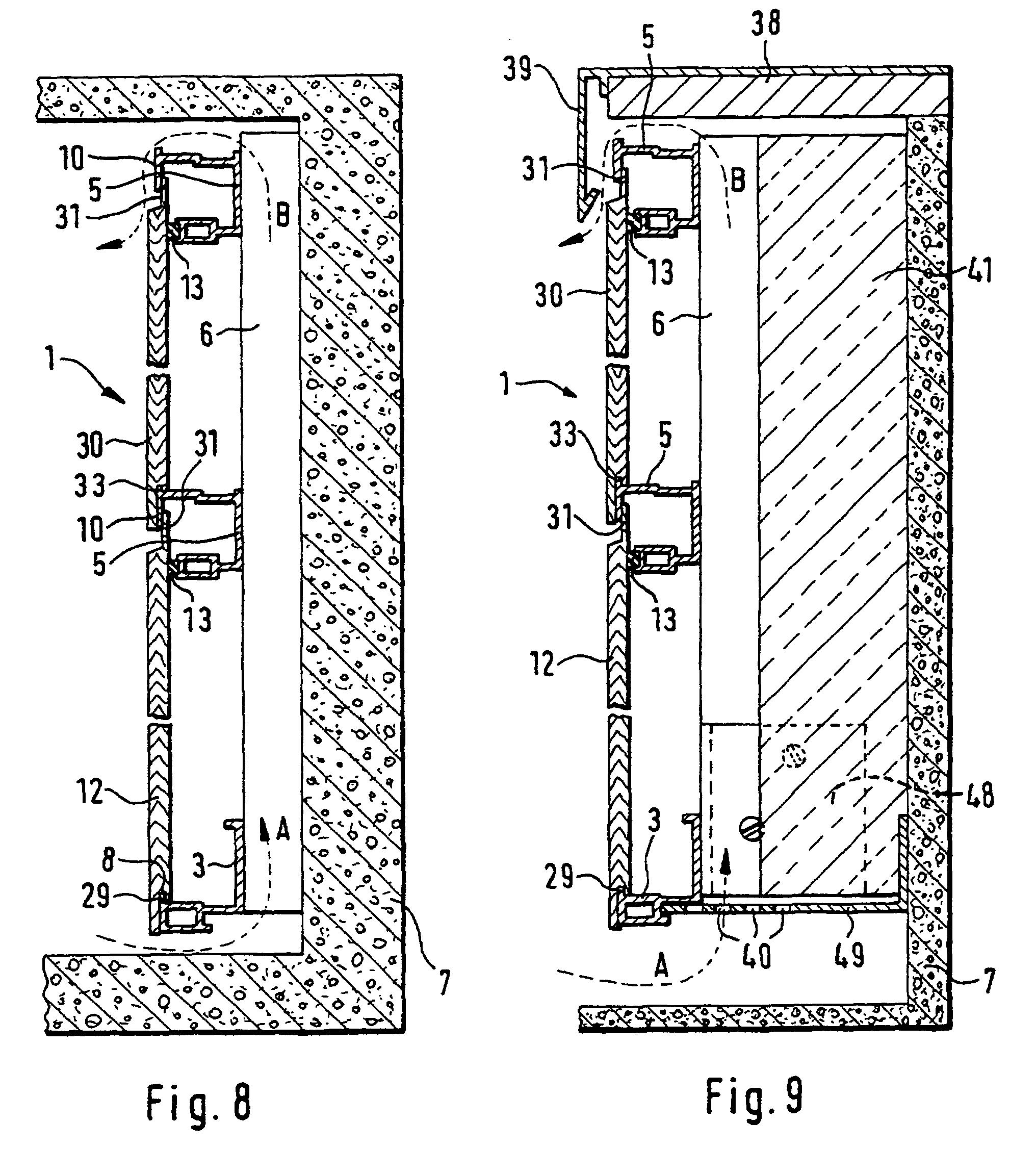 patent ep0921253b1 montagesystem f r platten zur. Black Bedroom Furniture Sets. Home Design Ideas