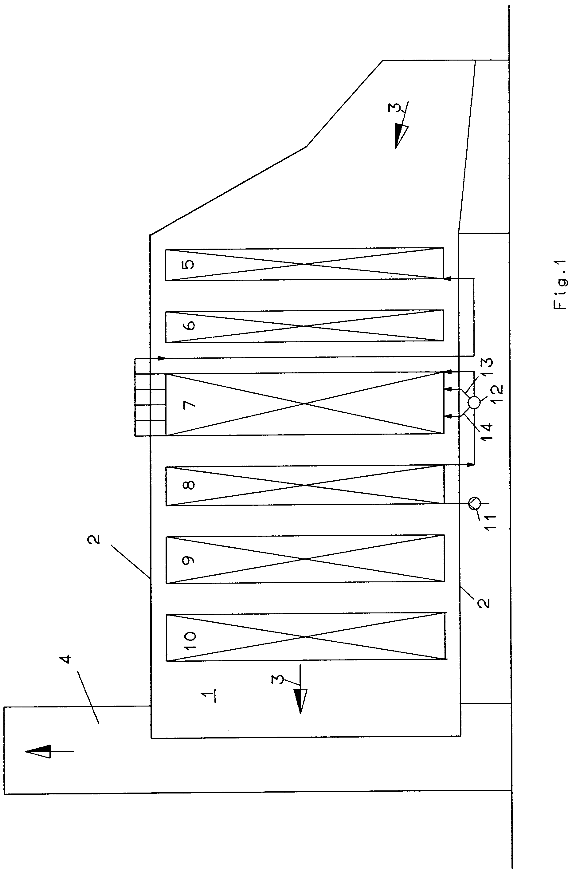 Patent EP A2 Steam generator with several tube bundles