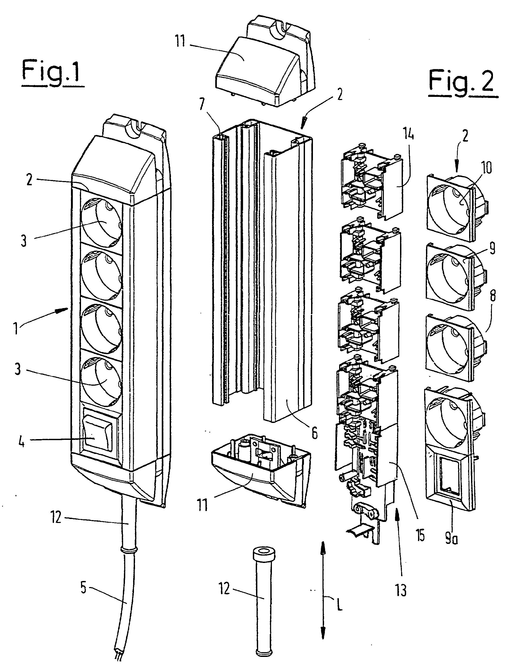 patent ep0951105b1 mehrfachsteckdose google patents. Black Bedroom Furniture Sets. Home Design Ideas