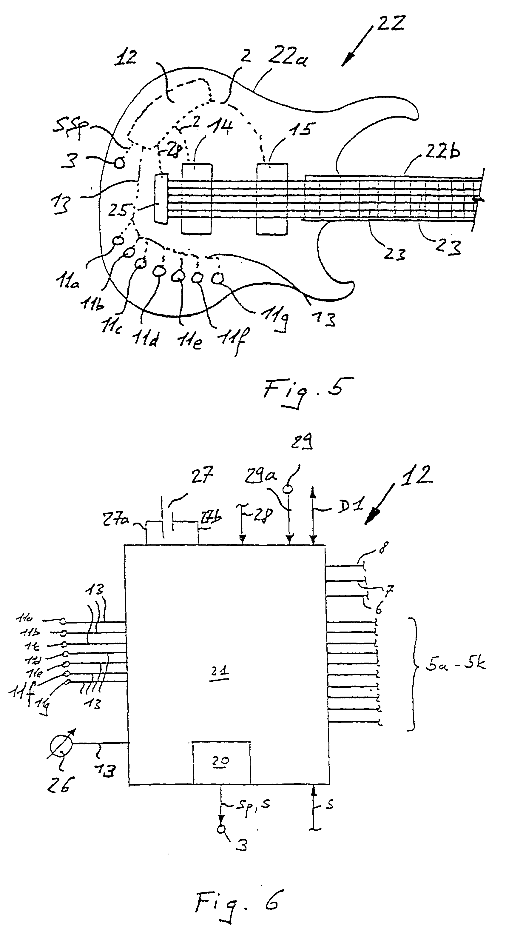 Patent EP0968496B1 - Sound pickup selector device for a string ...