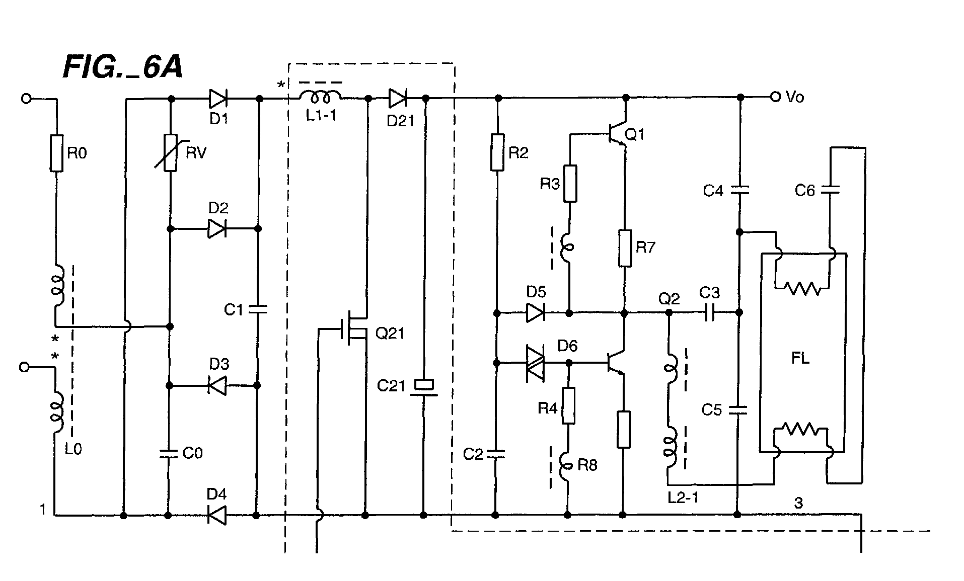 ... fluorescent lamp electronic ballast circuit diagram