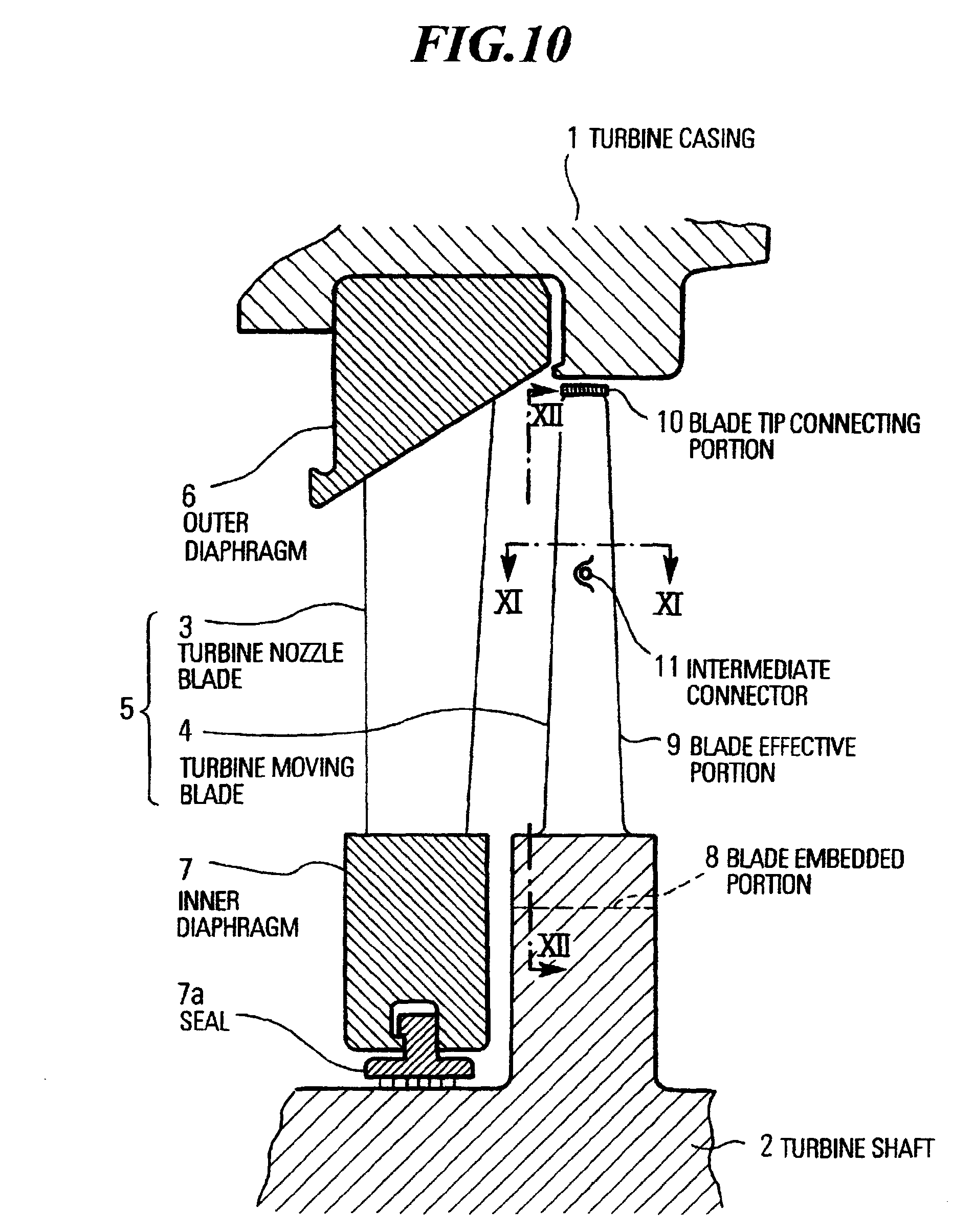 Patent EP A2 Blade configuration for steam turbine