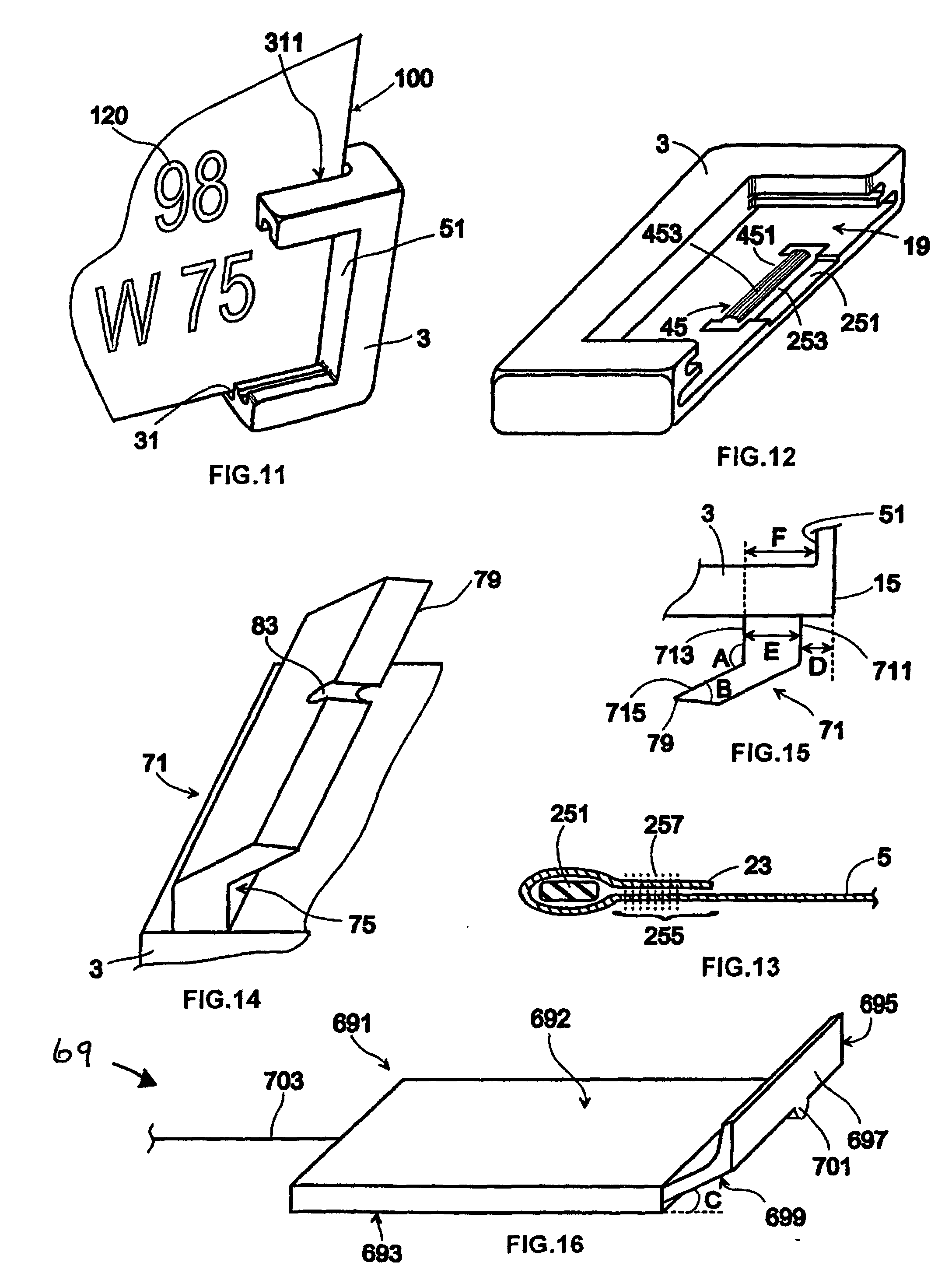 Patent ep0990562b1 dispositif de fixation amovible d 39 une for Plaque w garage assurance