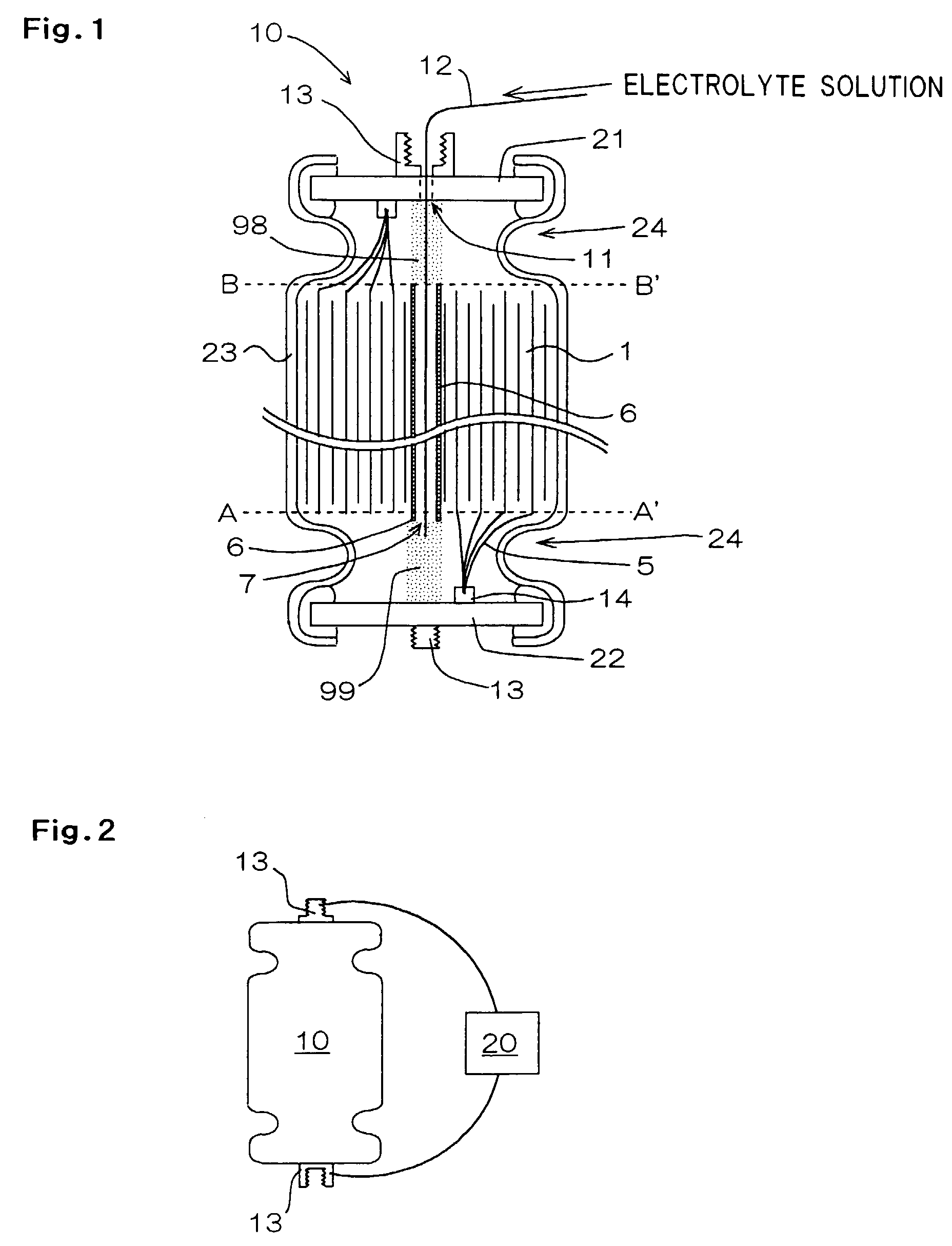 Hawker Powersource Battery Cell Diagram Patent Ep0994519a2 Electrolyte Solution Filling Method And Drawing