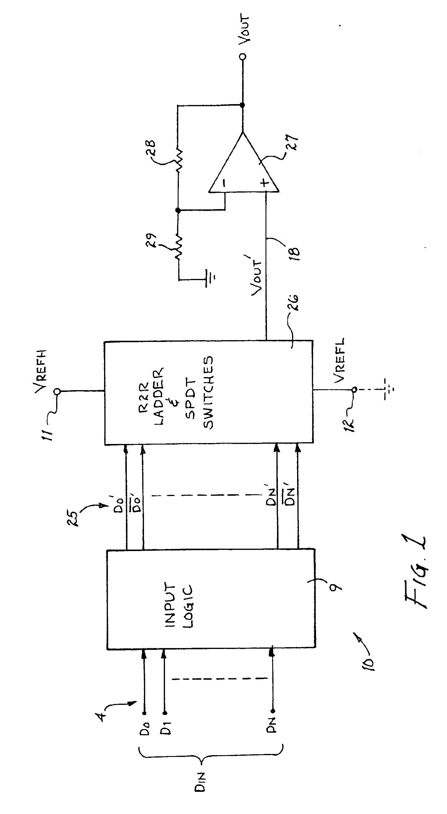 Patent Ep1031186b1 R 2r Ladder Circuit And Method For