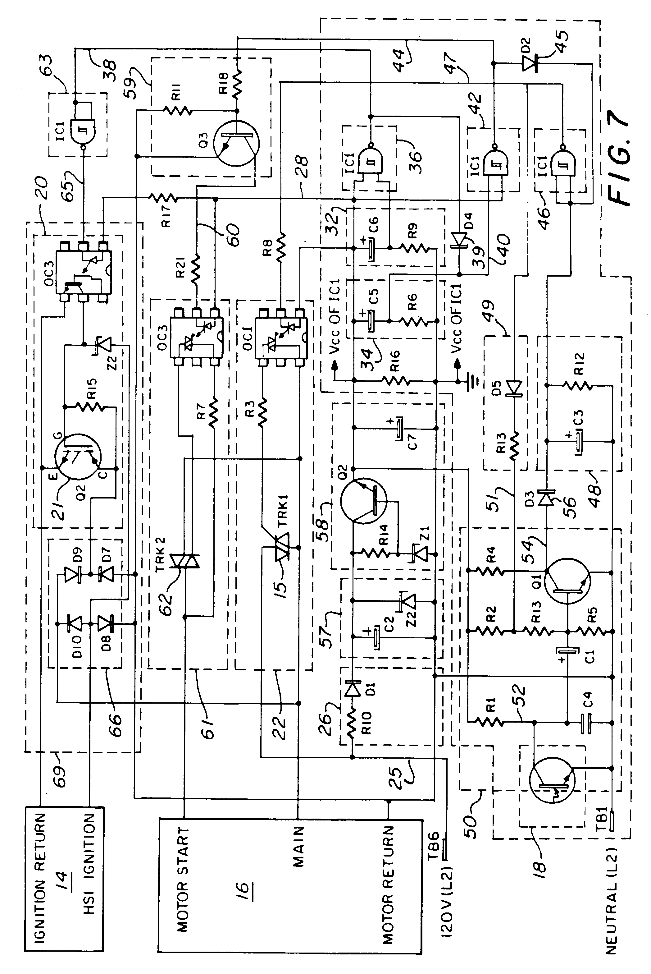 00460001 patent ep1033535a2 hot surface ignition controller for fuel oil power flame burner wiring schematic at fashall.co