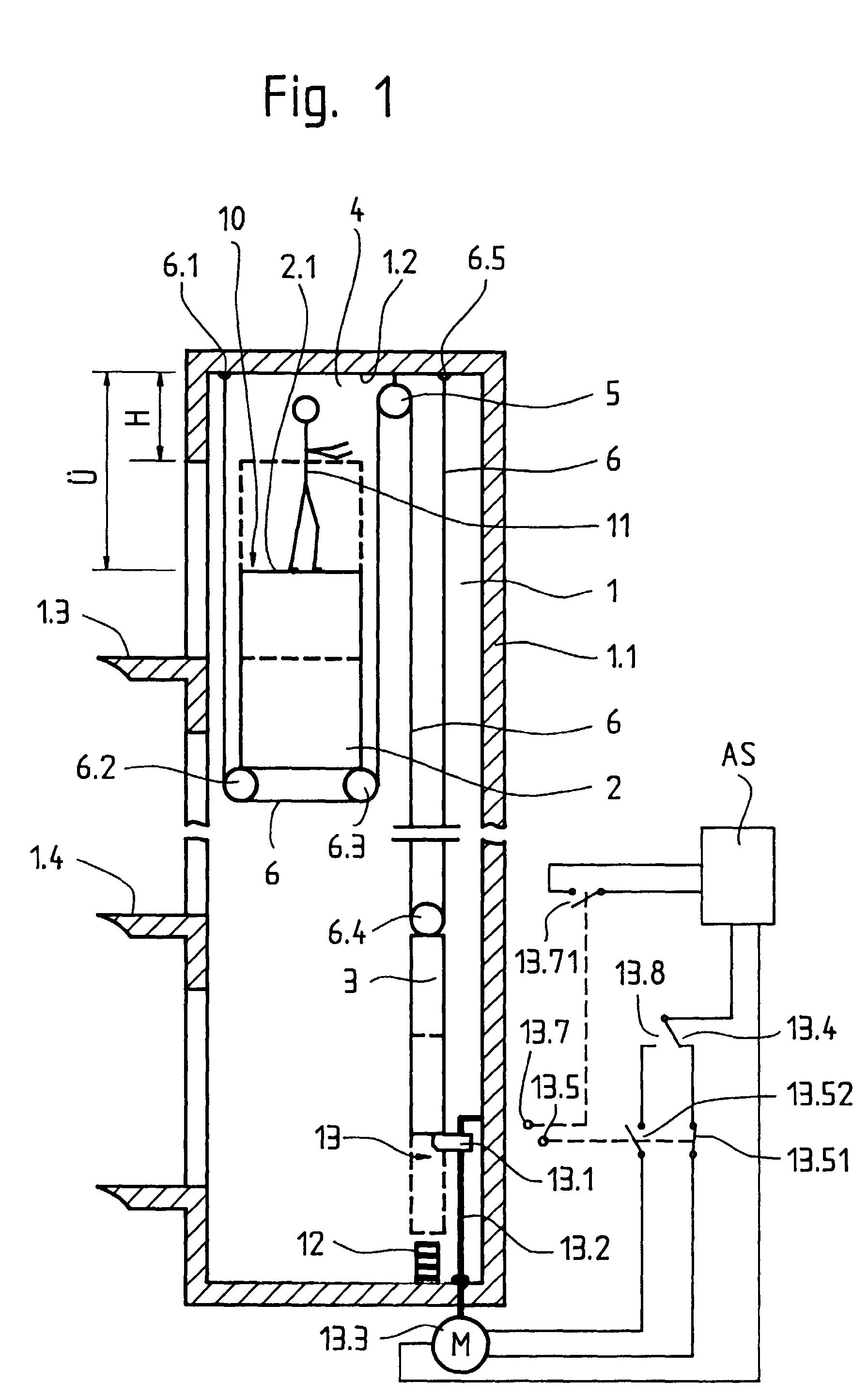 patent ep1052212a1 einrichtung zur ausf hrung von arbeiten in einem aufzugsschacht google. Black Bedroom Furniture Sets. Home Design Ideas