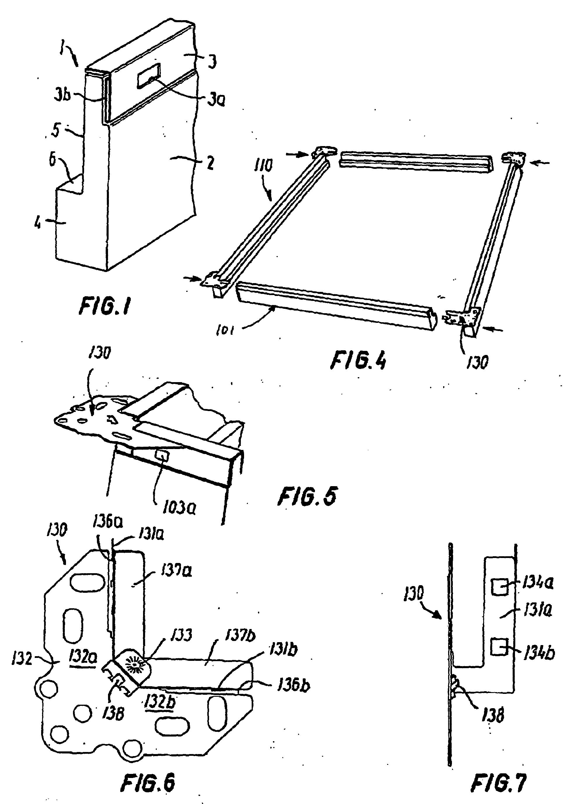 patent ep1061199b1 cadre isolant pour tabati re google patents. Black Bedroom Furniture Sets. Home Design Ideas