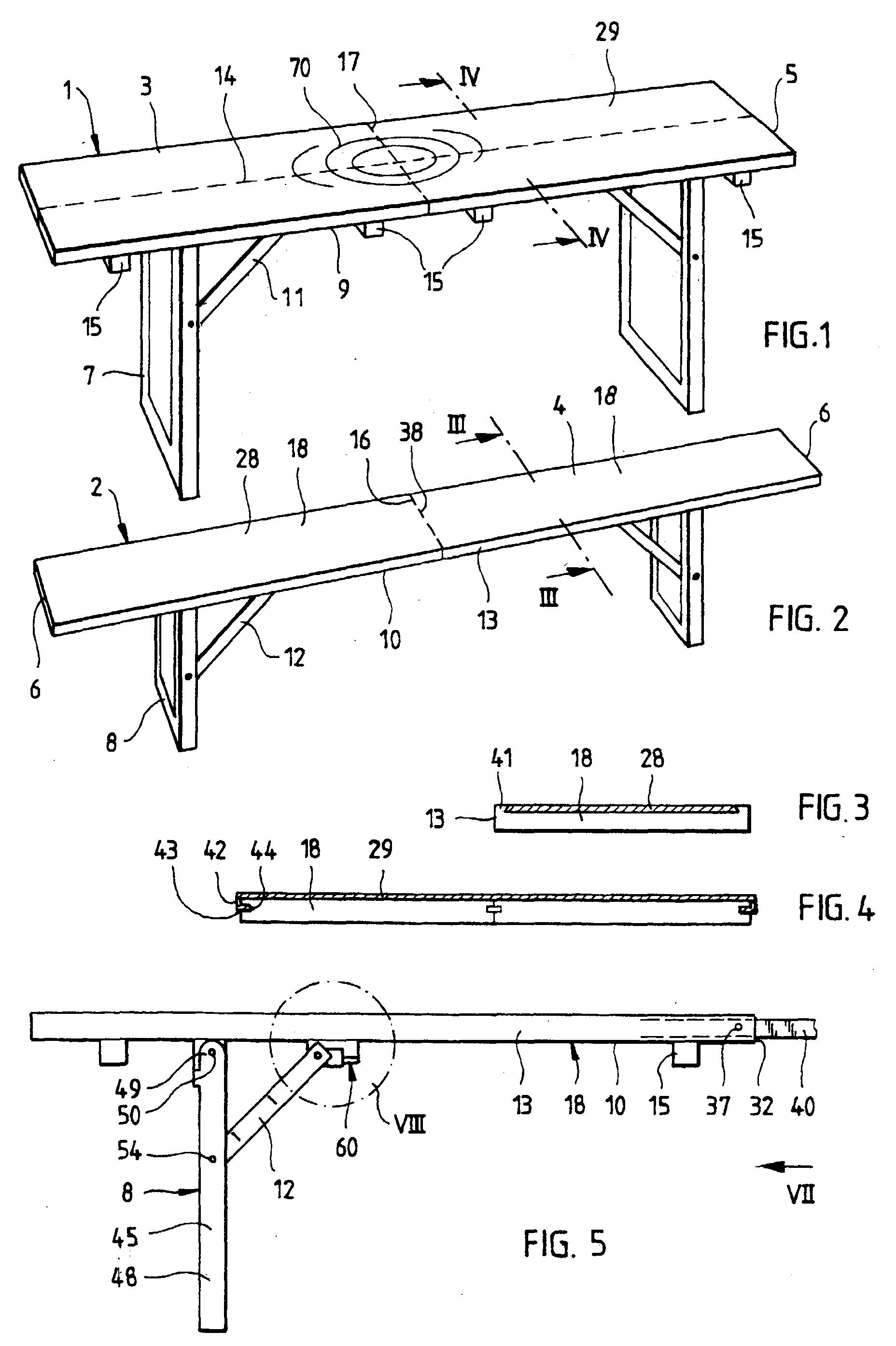 patent ep1092364a1 tisch und sitzbank zur verwendung in festzelten und bierg rten google patents. Black Bedroom Furniture Sets. Home Design Ideas
