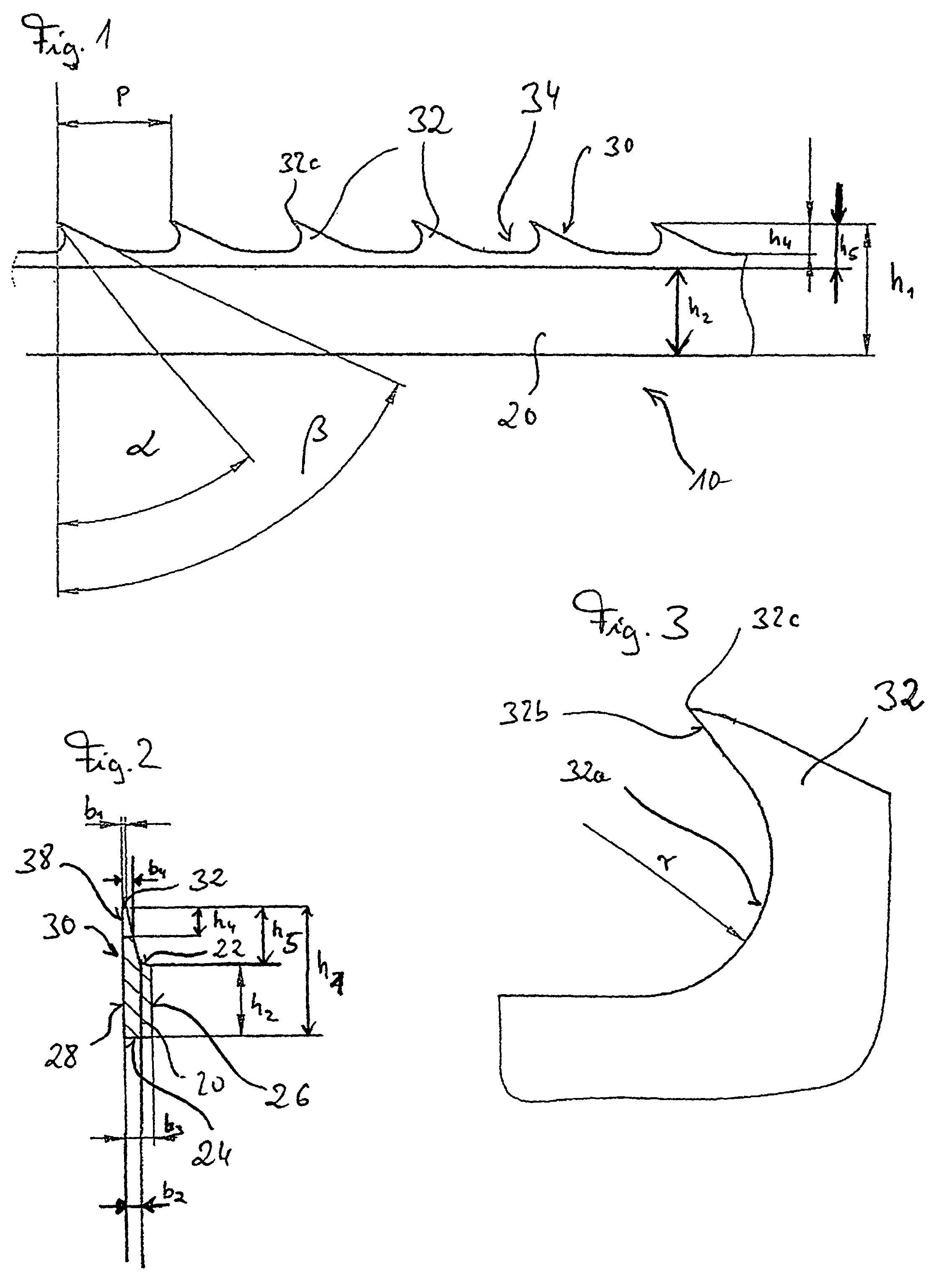 Patent EP1099783B1 - Saw-toothed wire - Google Patents