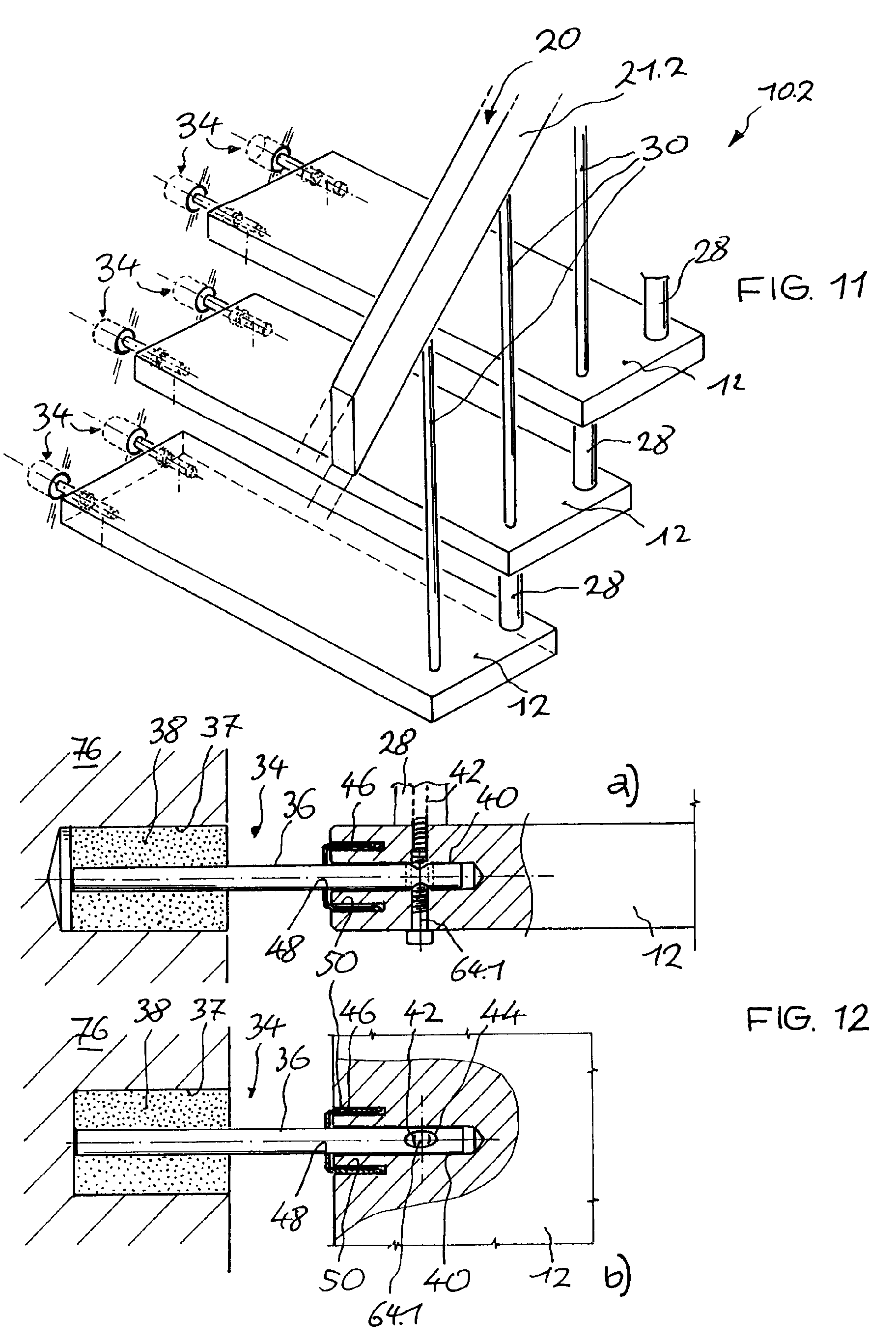 patent ep1103671a2 freitragende treppe google patents. Black Bedroom Furniture Sets. Home Design Ideas