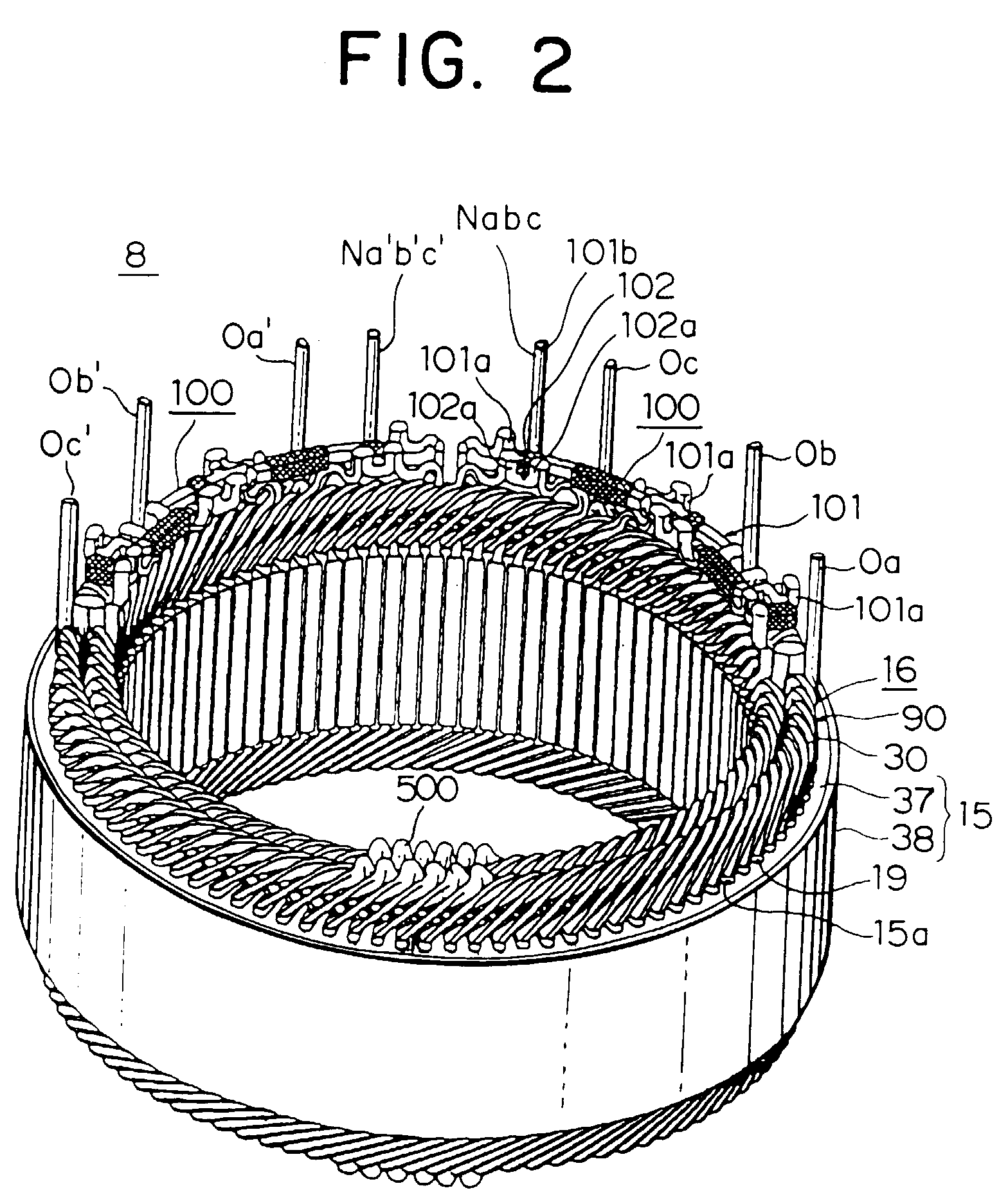 Patent Ep1109289a2 Winding Connections For The Stator Of
