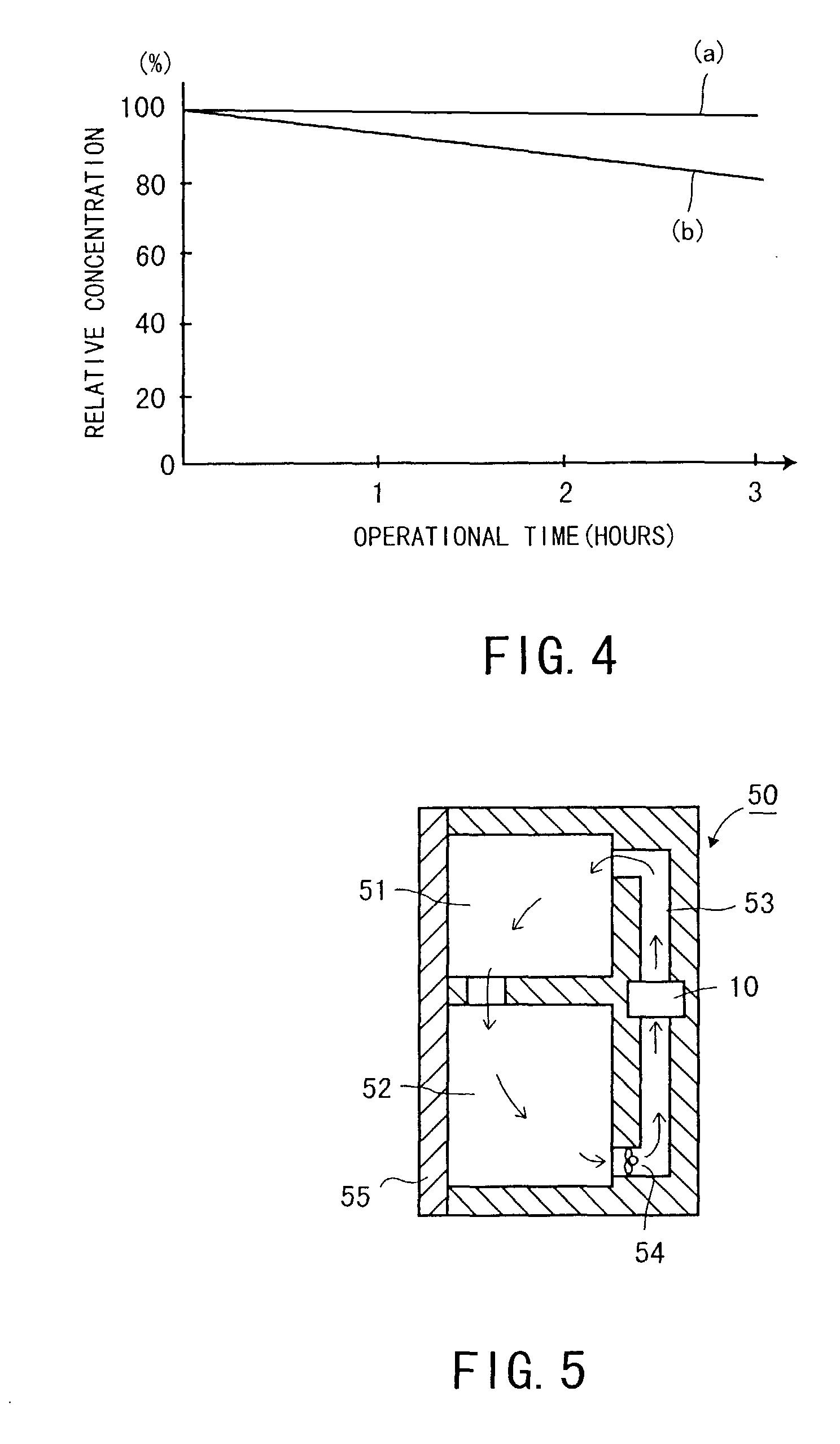 Patent EP1112752A2 - Vorrichtung zum Entfernen von Geruch sowie ...