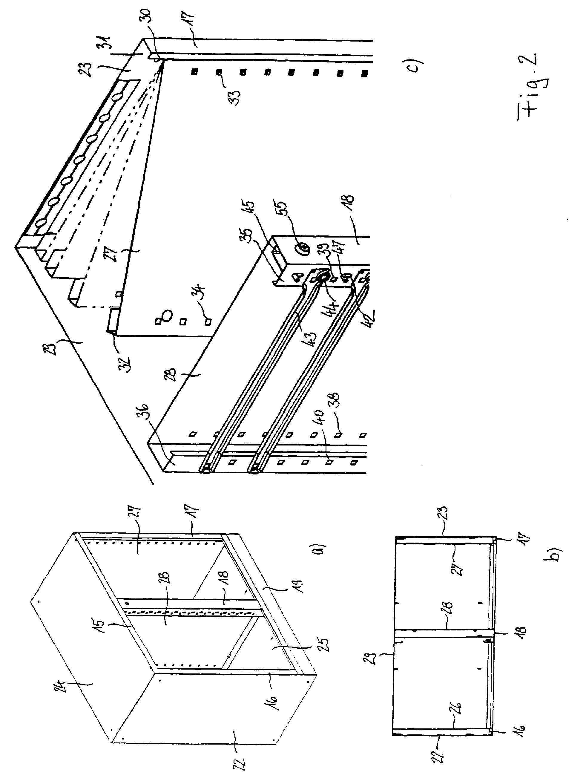Patent EP1175852A1 - Storage device, in particular shelf or cupboard ...