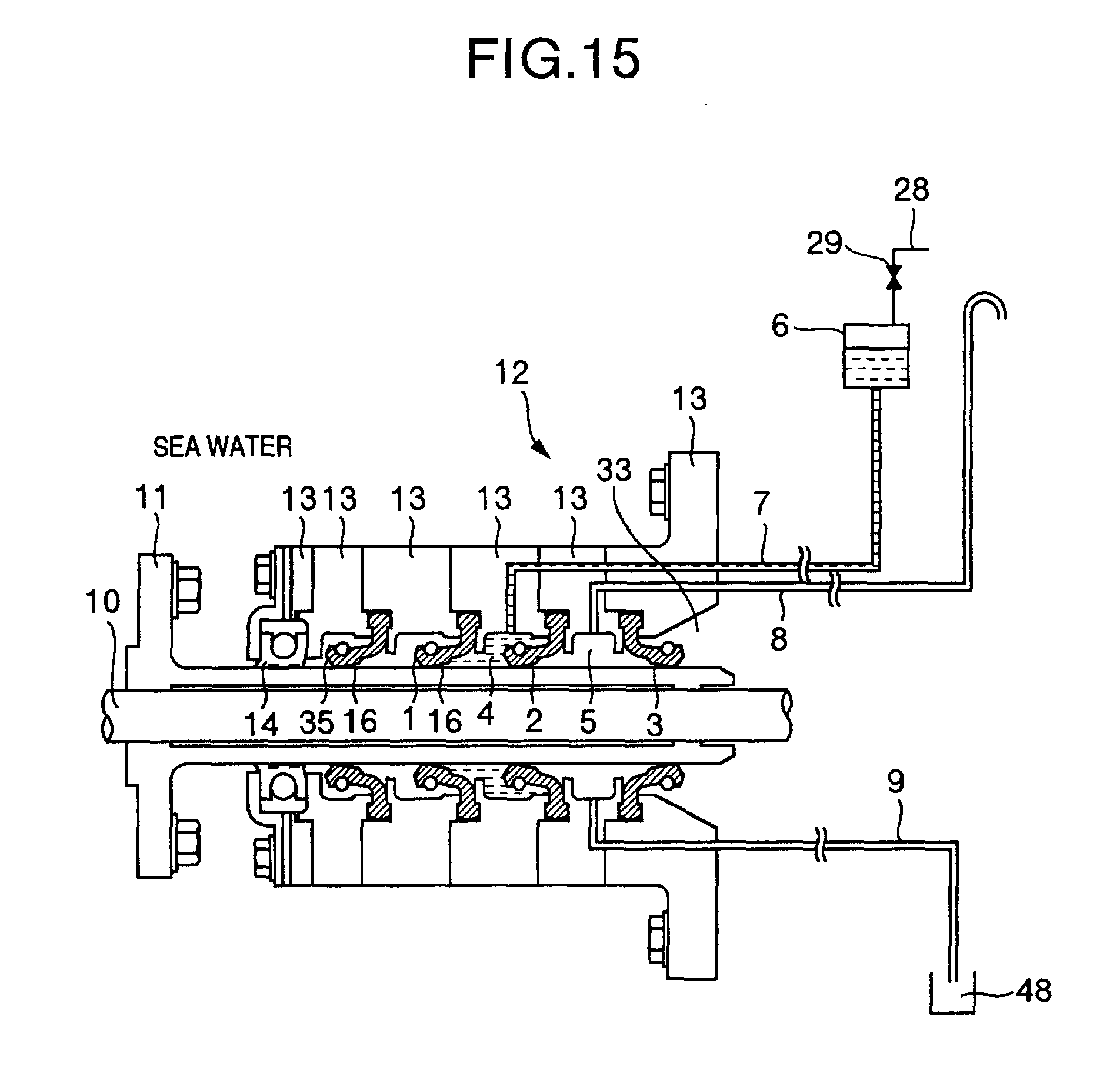 Patent EP1182133A1 - Stevenrohrabdichtungsanordnung - Google Patents