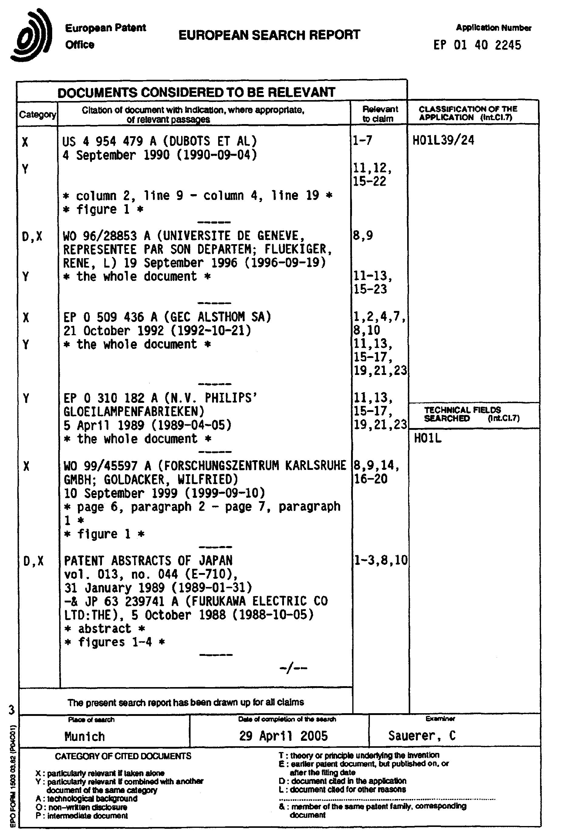 Patent EP1187232A3 - Oxidhochtemperatur supraleitender Draht und ...