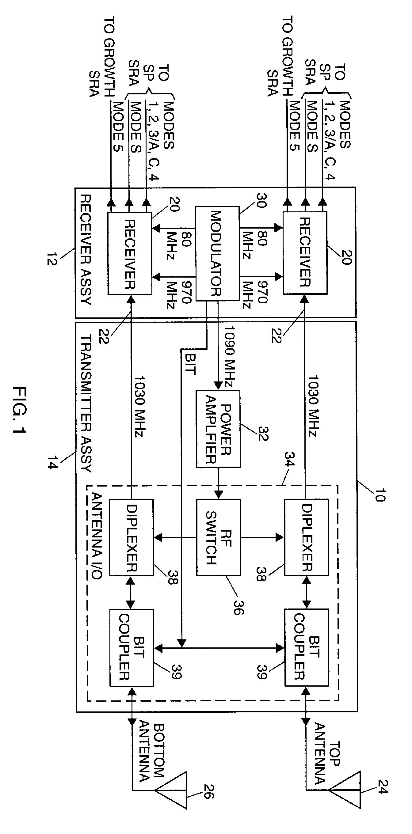 patent ep1189073a2 multi mode transponder receiver architecture  mode s transponder block diagram #25