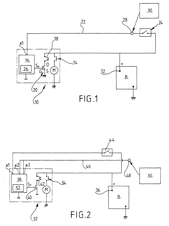 patent ep1219968a1 d marreur de v hicule automobile et proc d de controle du fonctionnement d. Black Bedroom Furniture Sets. Home Design Ideas