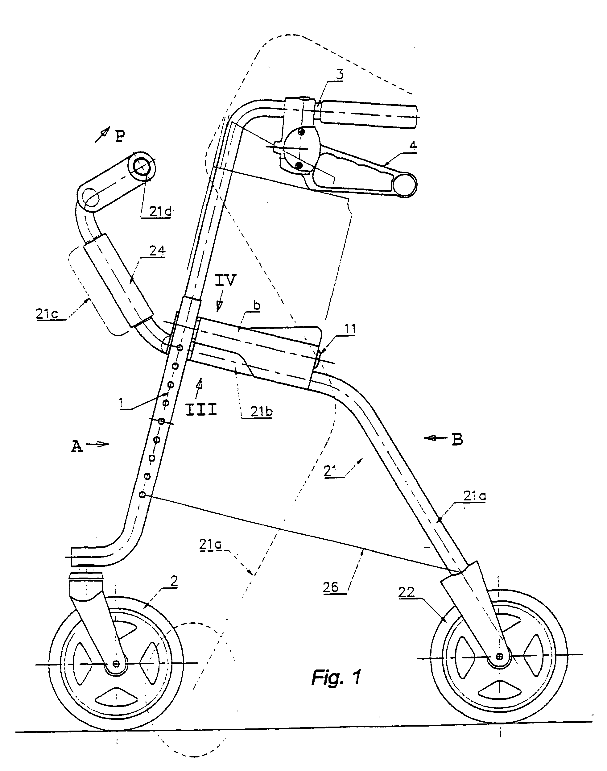 patent ep1244413b1 fahrbares hilfsmittel f r senioren. Black Bedroom Furniture Sets. Home Design Ideas
