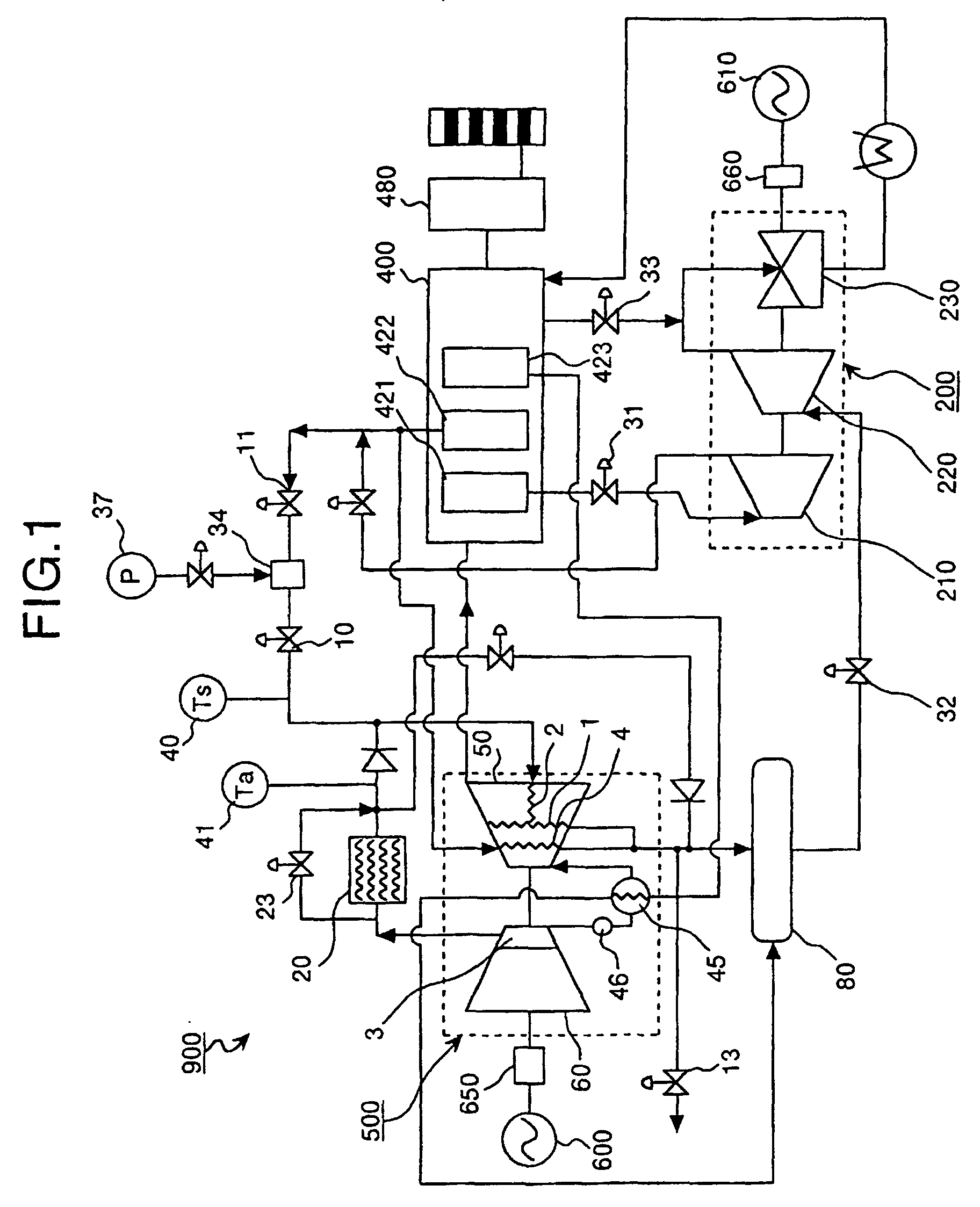 Patent EP B1 Gas turbine and operation method of gas