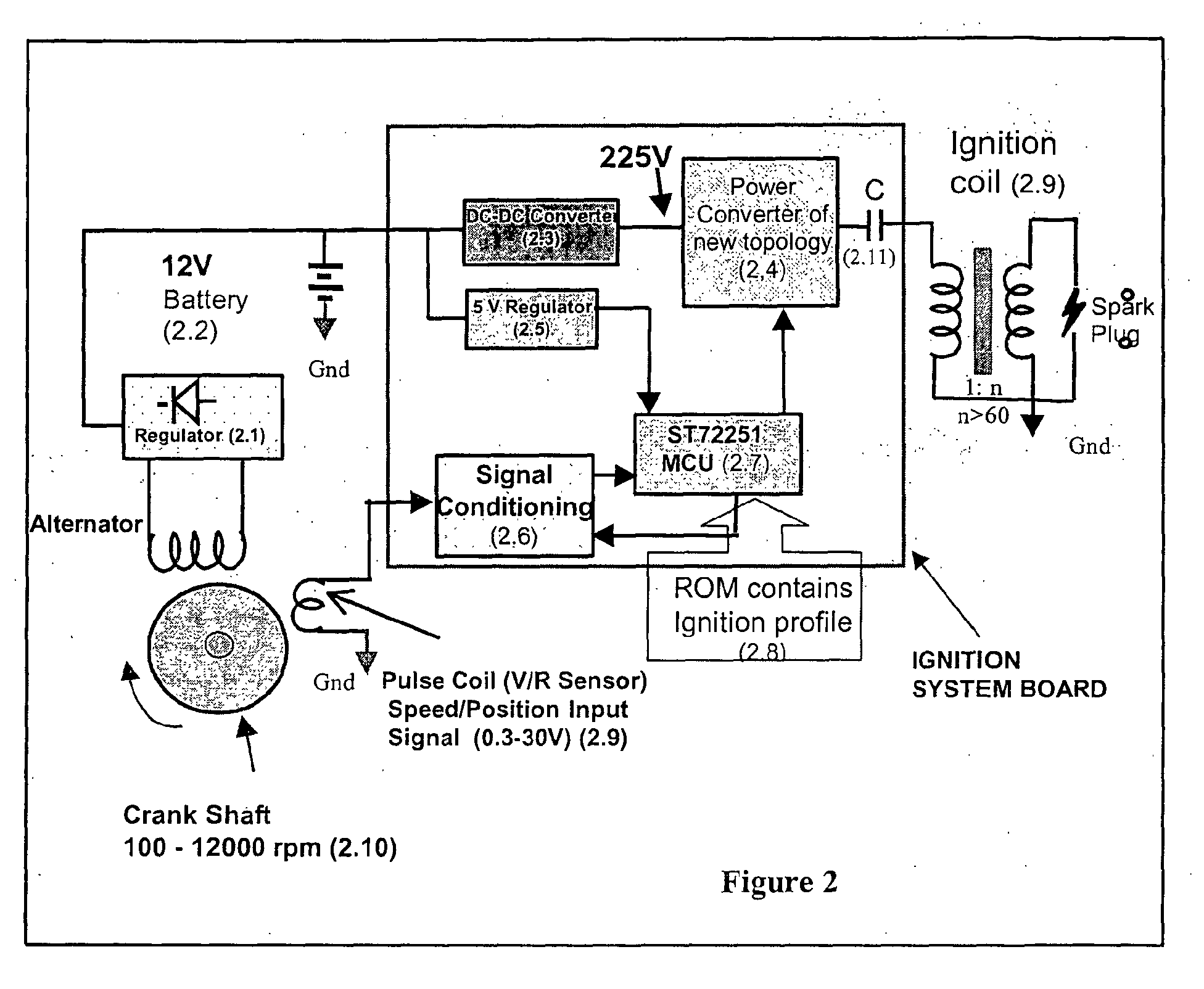 patent ep1298320a2 capacitor discharge ignition cdi system patent drawing