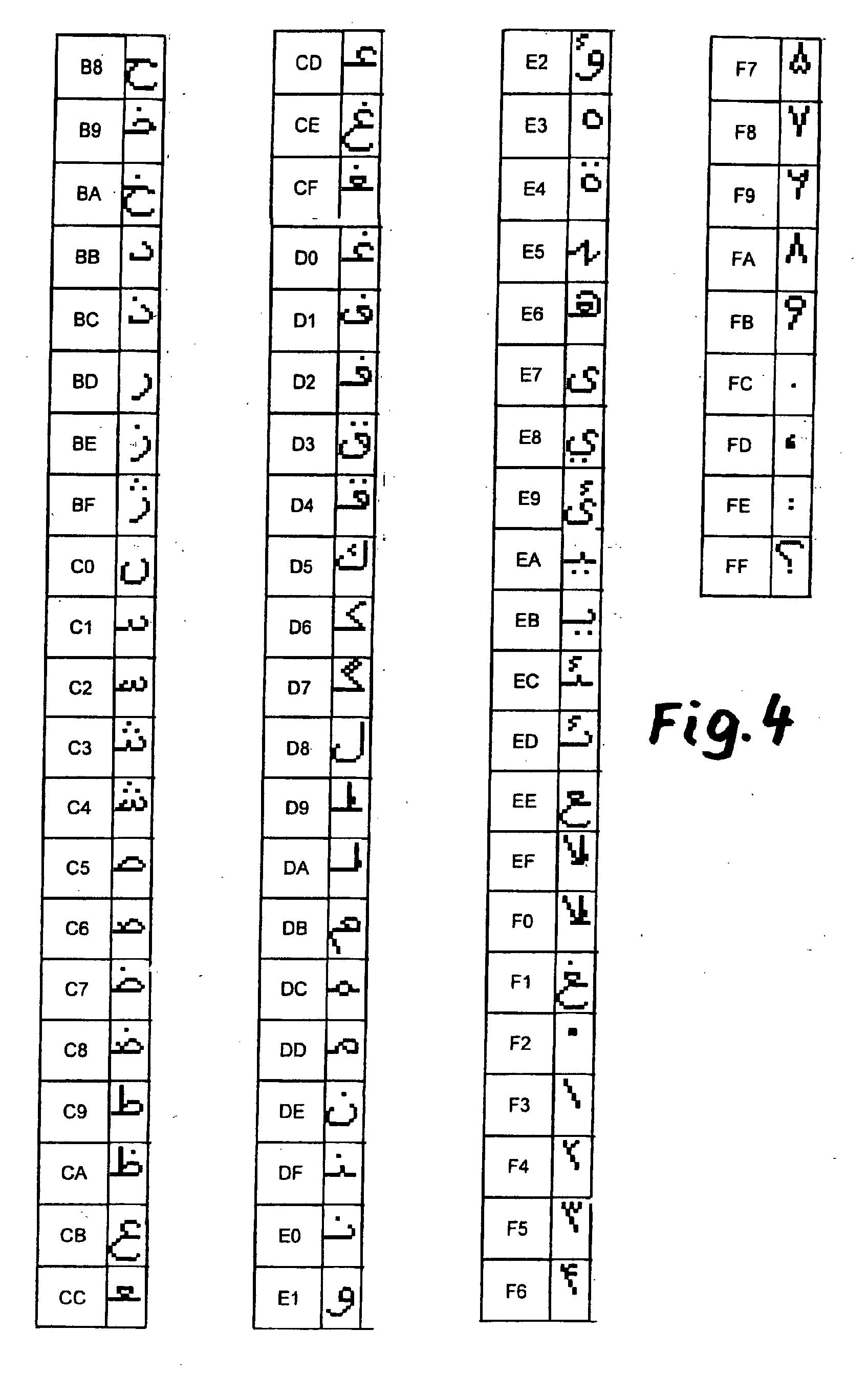 Arbeitsblätter Arabische Buchstaben : Patent ep a darstellung arabischer schrift in