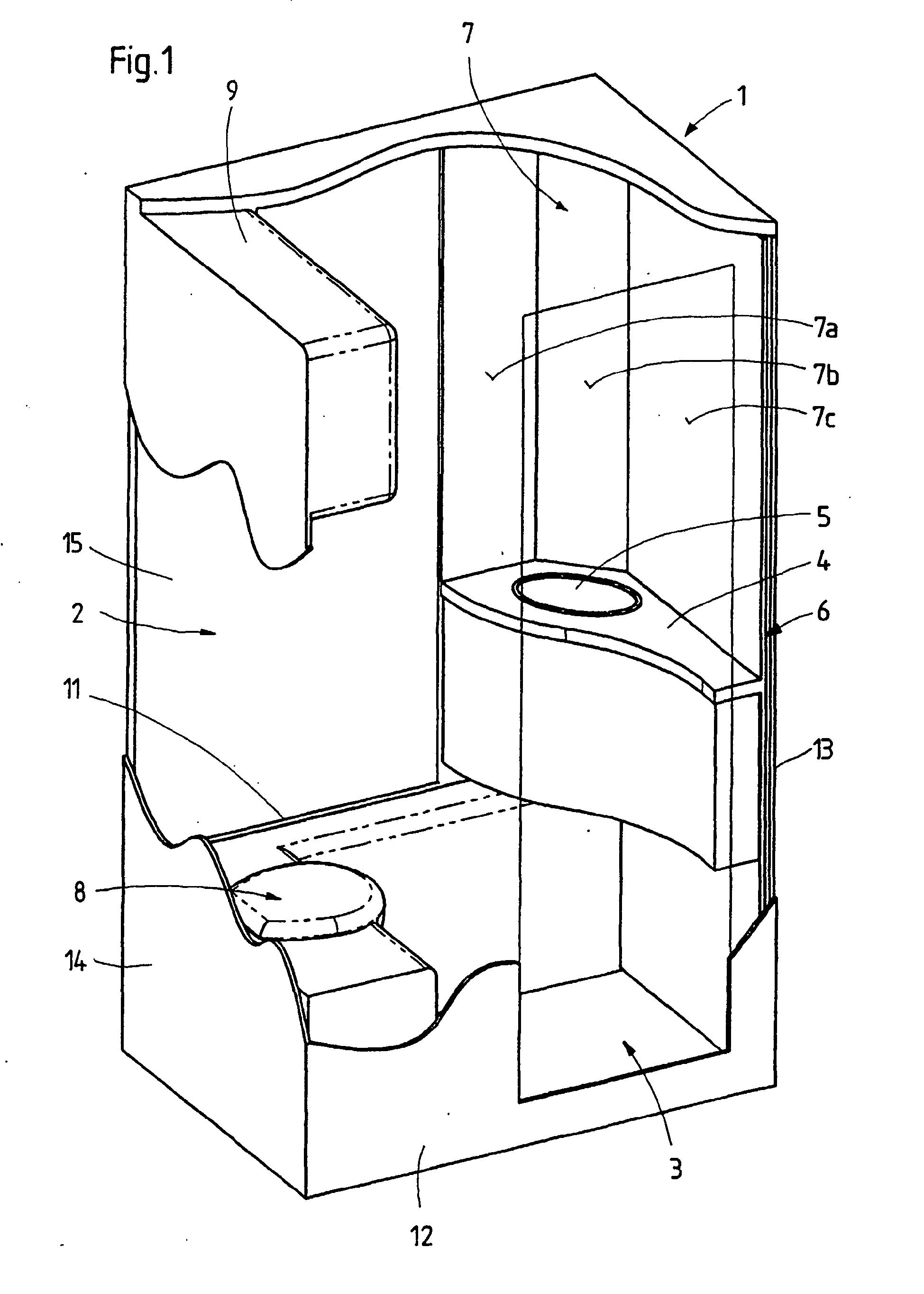 patent ep1318048b1 nasszelle insbesondere zur verwendung in wohnwagen oder reisemobilen. Black Bedroom Furniture Sets. Home Design Ideas