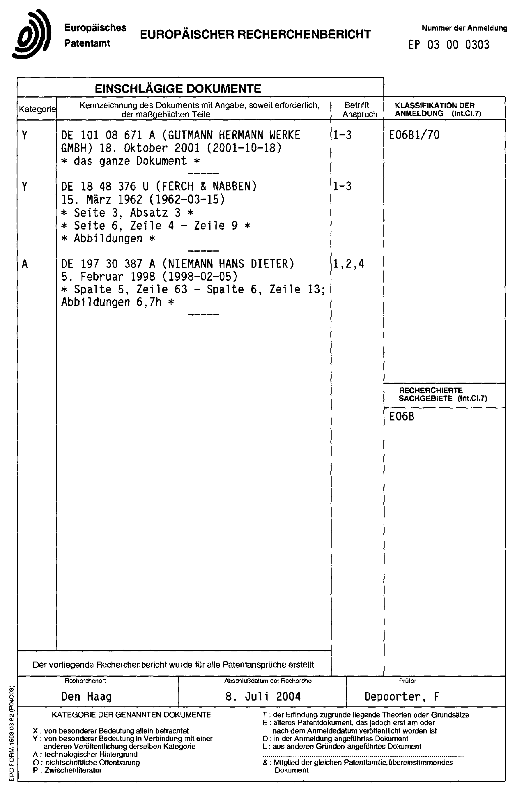 Patent EP1335095A3 - Plastic end cap for a window sill - Google Patents