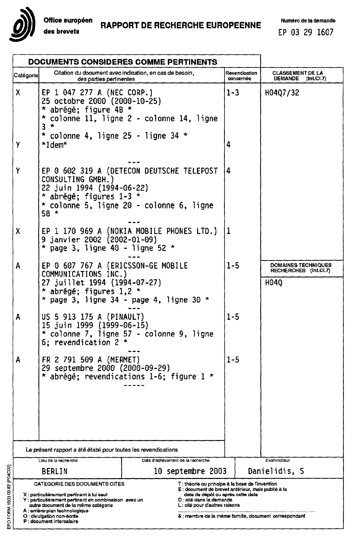 Patent Ep1379094a1 Procédé De Verouillage Dun Terminal Mobile De