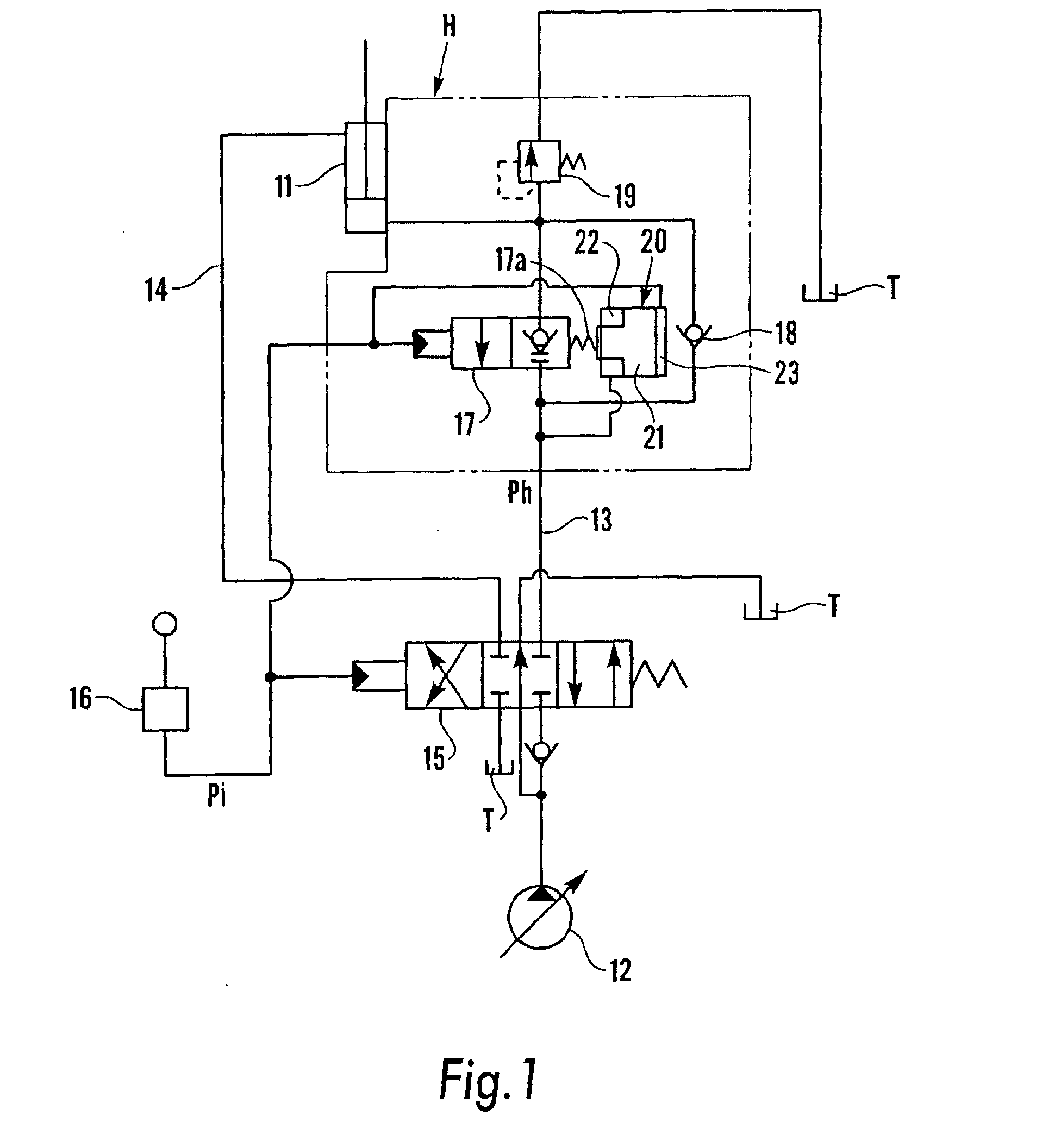 Patent ep1387089a2 hydraulic actuator circuit google patents patent drawing biocorpaavc Image collections