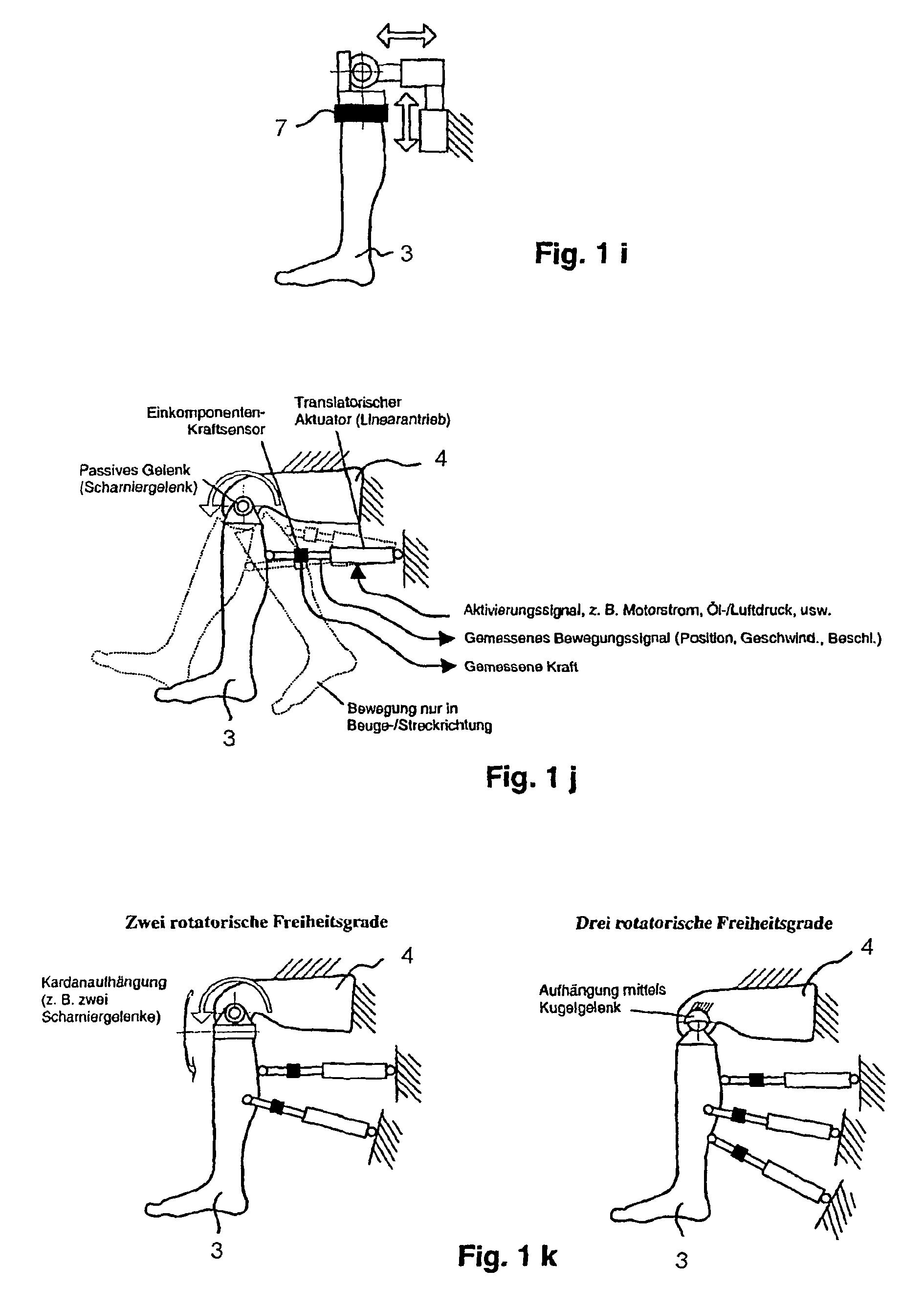 Patent EP1402503B1 - Programmierbarer gelenksimulator mit kraft- und ...