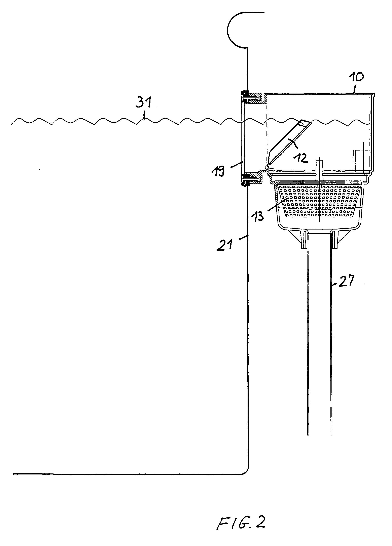 patent ep1407099b1 skimmer f r ein schwimmbecken. Black Bedroom Furniture Sets. Home Design Ideas